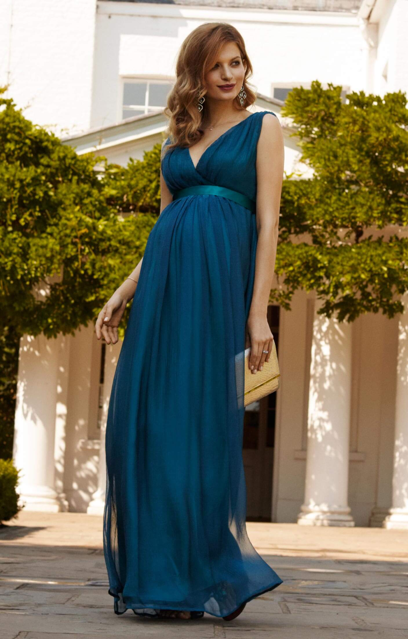 ava maternity gown long aegean blue maternity wedding dresses evening wear and party clothes. Black Bedroom Furniture Sets. Home Design Ideas