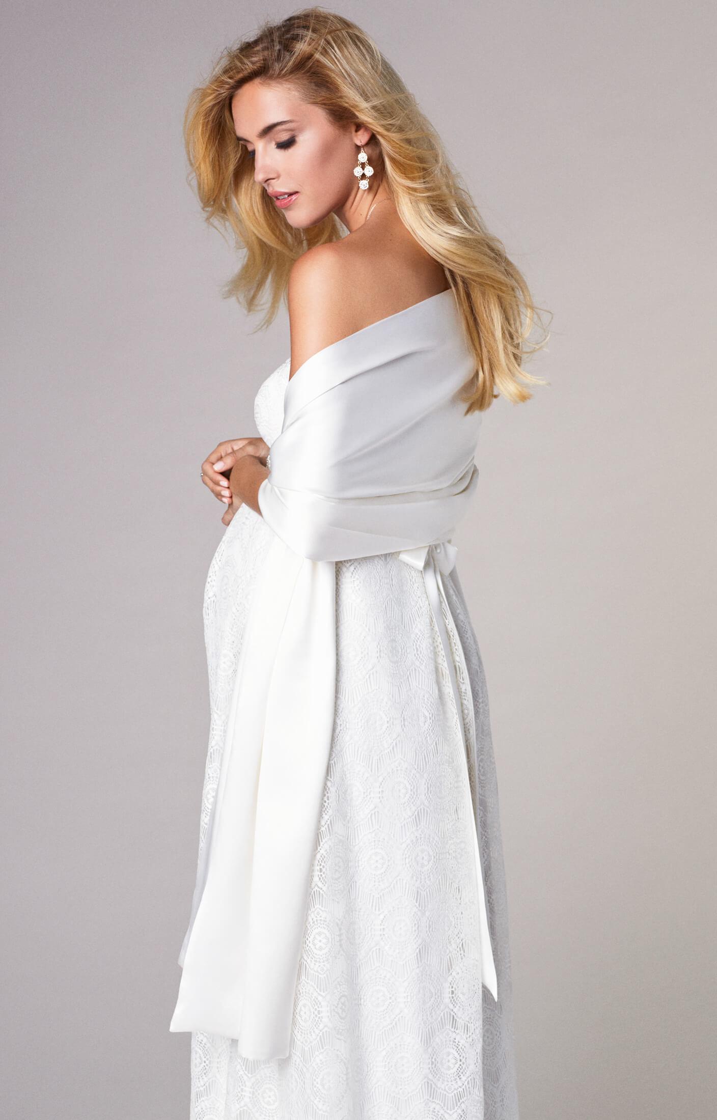 Silk Maternity Bridal Wrap Ivory - Maternity Wedding Dresses ...