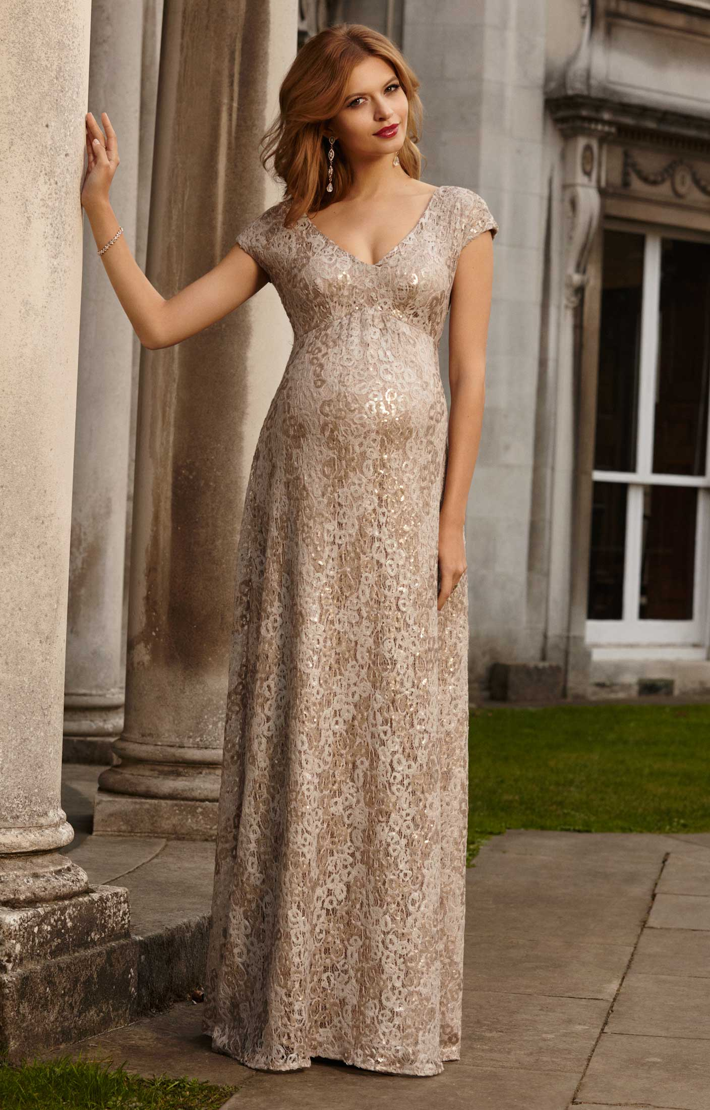 Carmen Maternity Gown Gold Rush Maternity Wedding