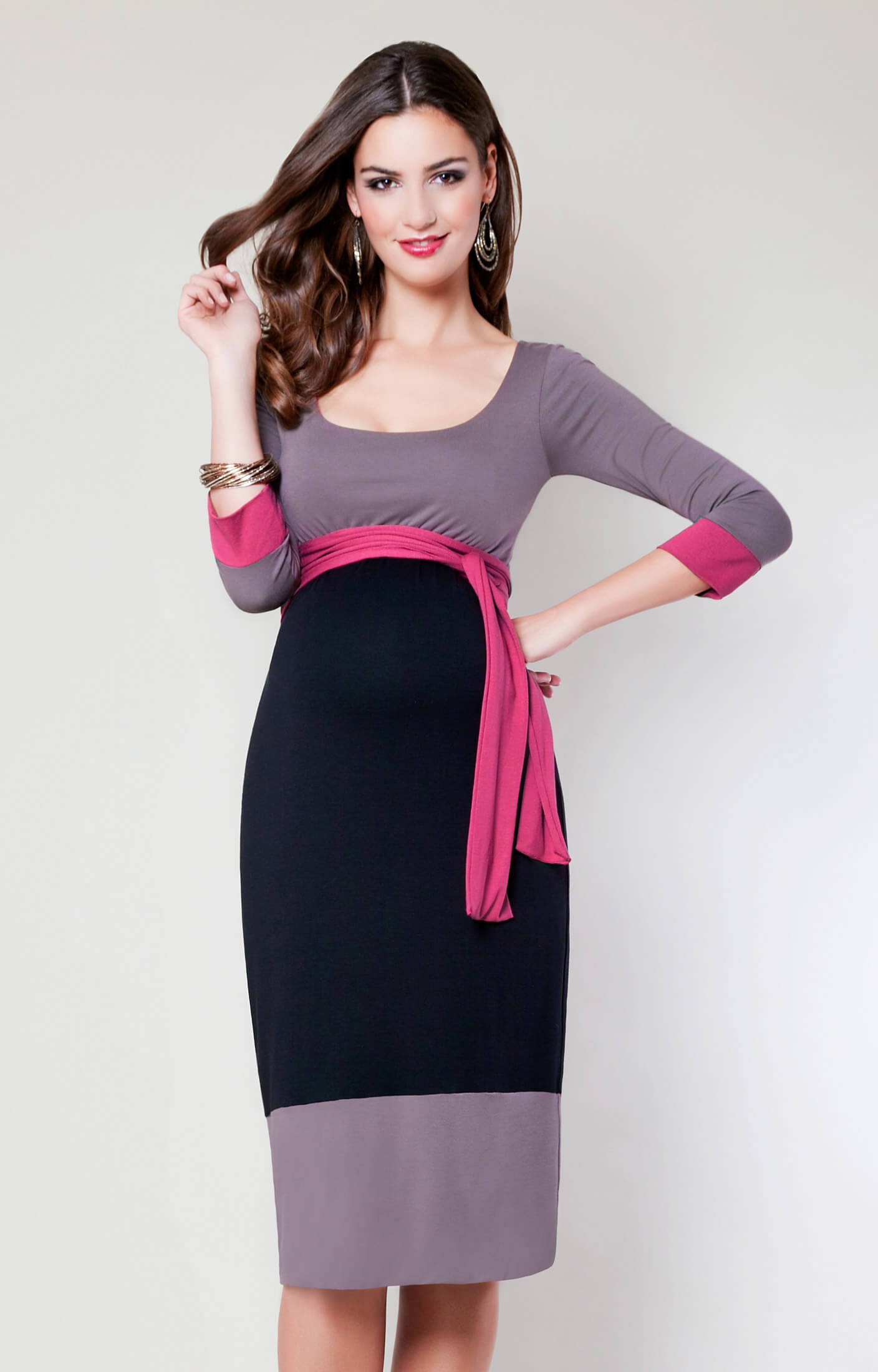 Colour Block Maternity Dress Truffle Maternity Wedding