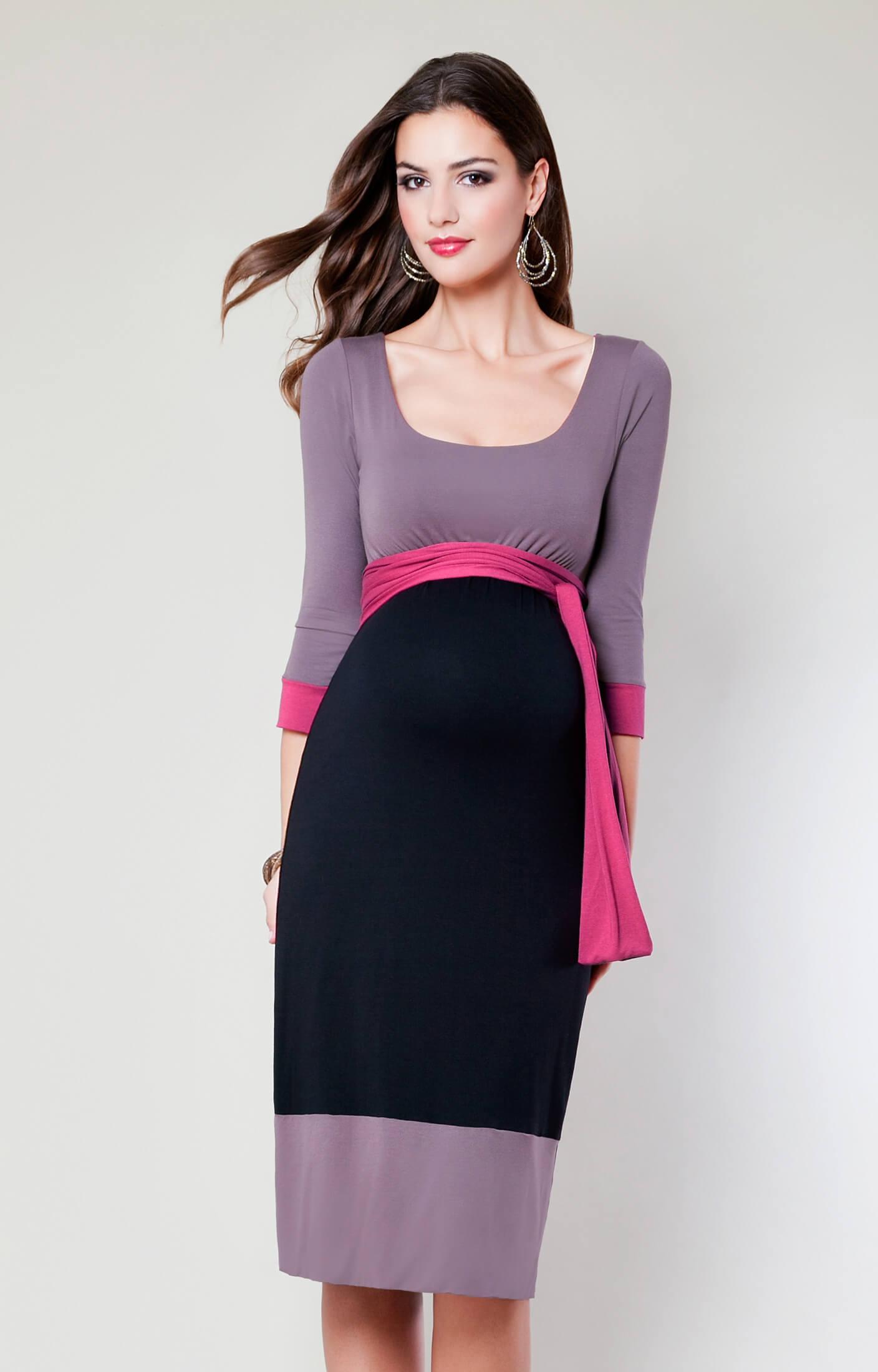 Colour Block Maternity Dress Truffle Maternity Wedding