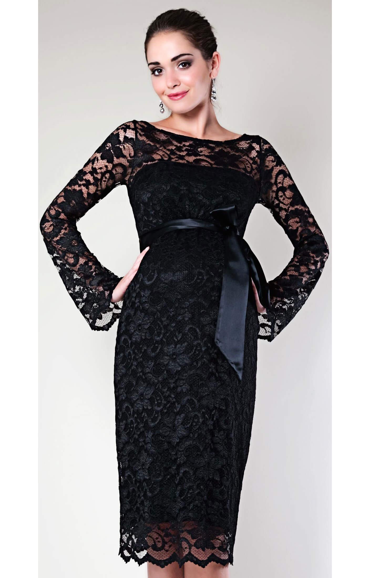 Chloe Maternity Dress (Black) - Maternity Wedding Dresses, Evening ...
