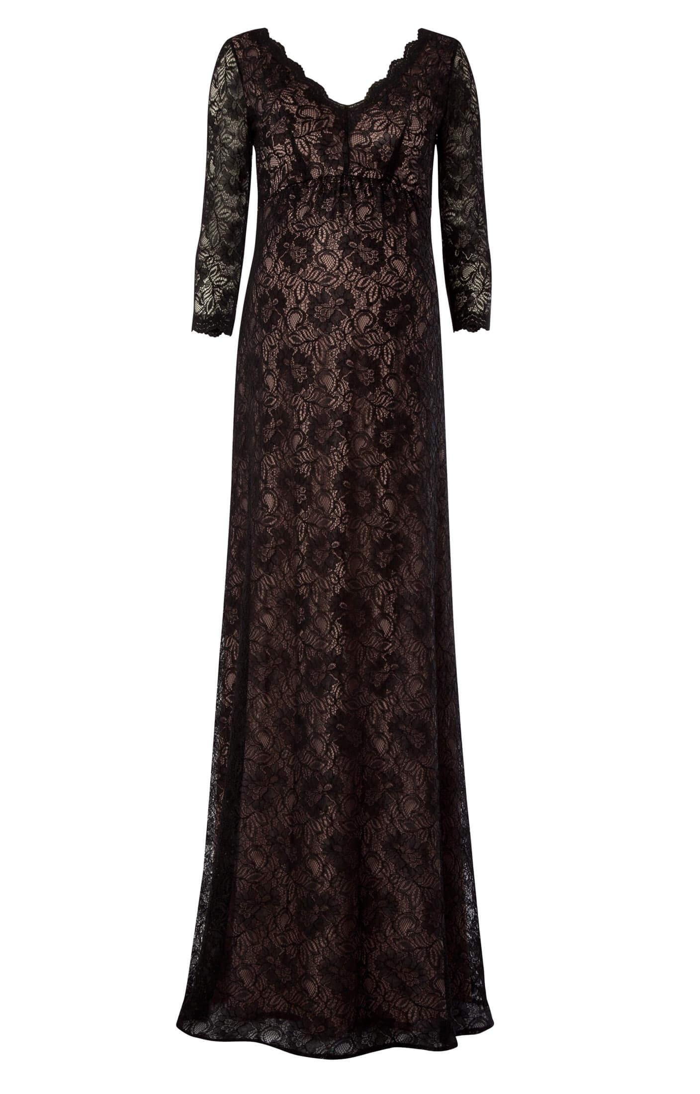 spitzenkleid chloe blush noir umstandshochzeitskleider abendgarderobe und partykleidung by. Black Bedroom Furniture Sets. Home Design Ideas