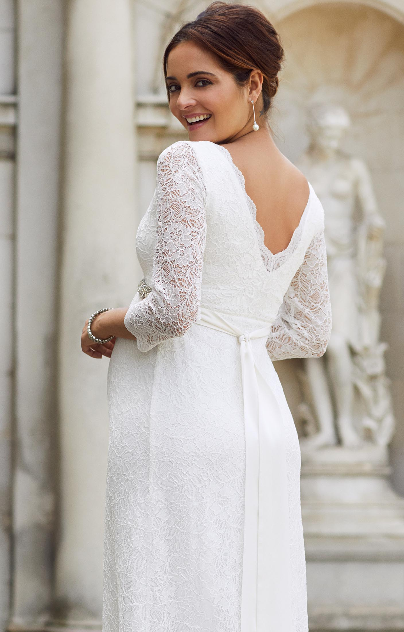 9ab91506804a2 Chloe Lace Maternity Wedding Gown Ivory - Maternity Wedding Dresses,  Evening Wear and Party Clothes by Tiffany Rose IE