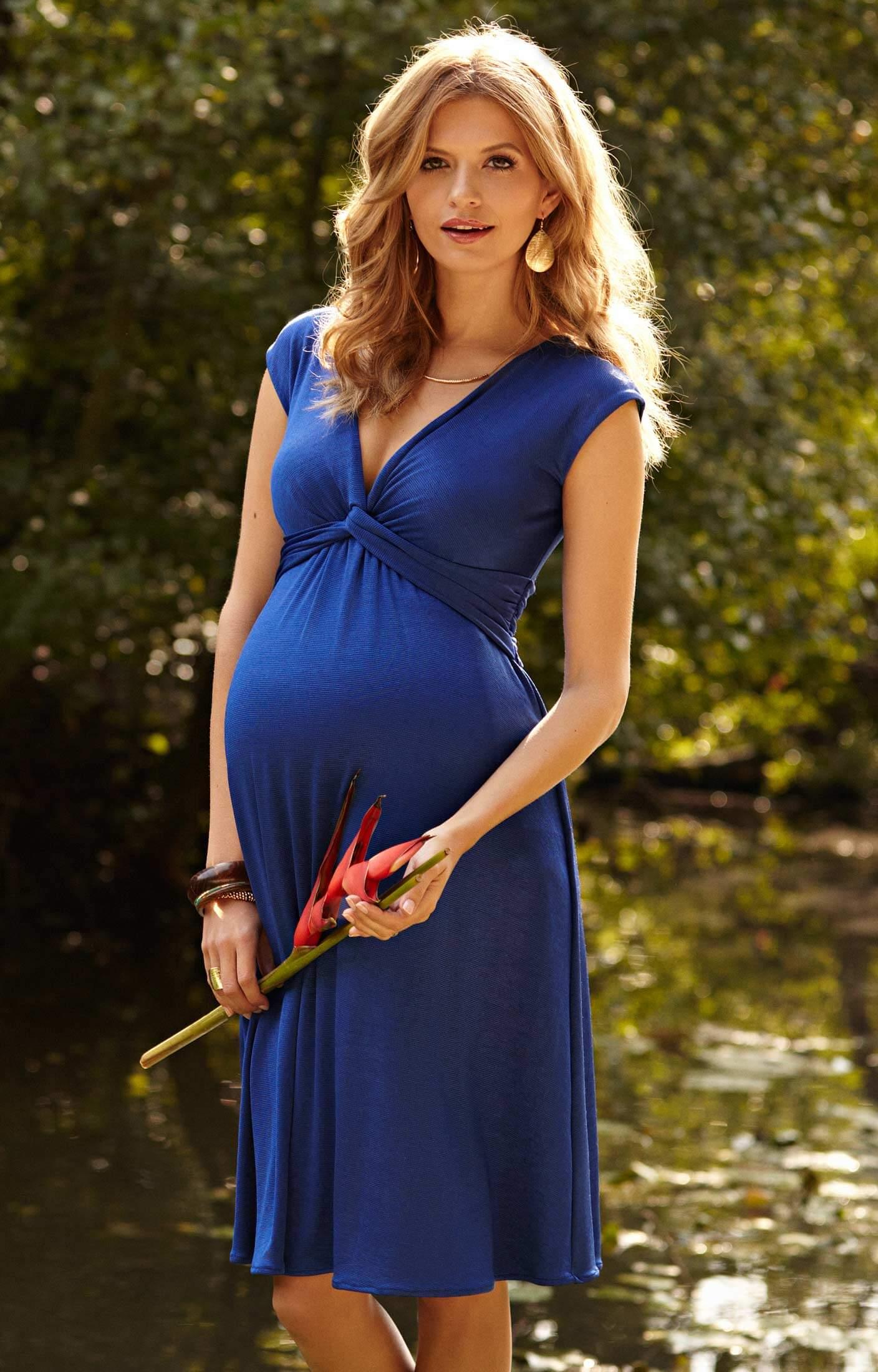Clara Maternity Dress Cobalt Blue Maternity Wedding