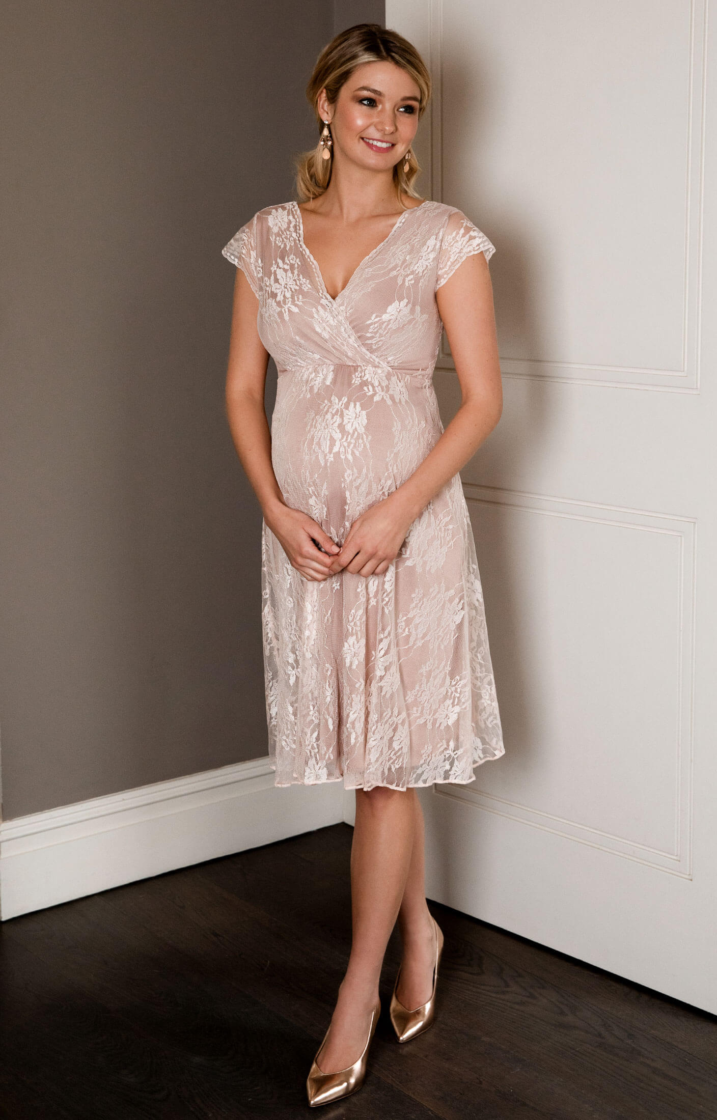 Eden Maternity Gown Short Blush By Tiffany Rose