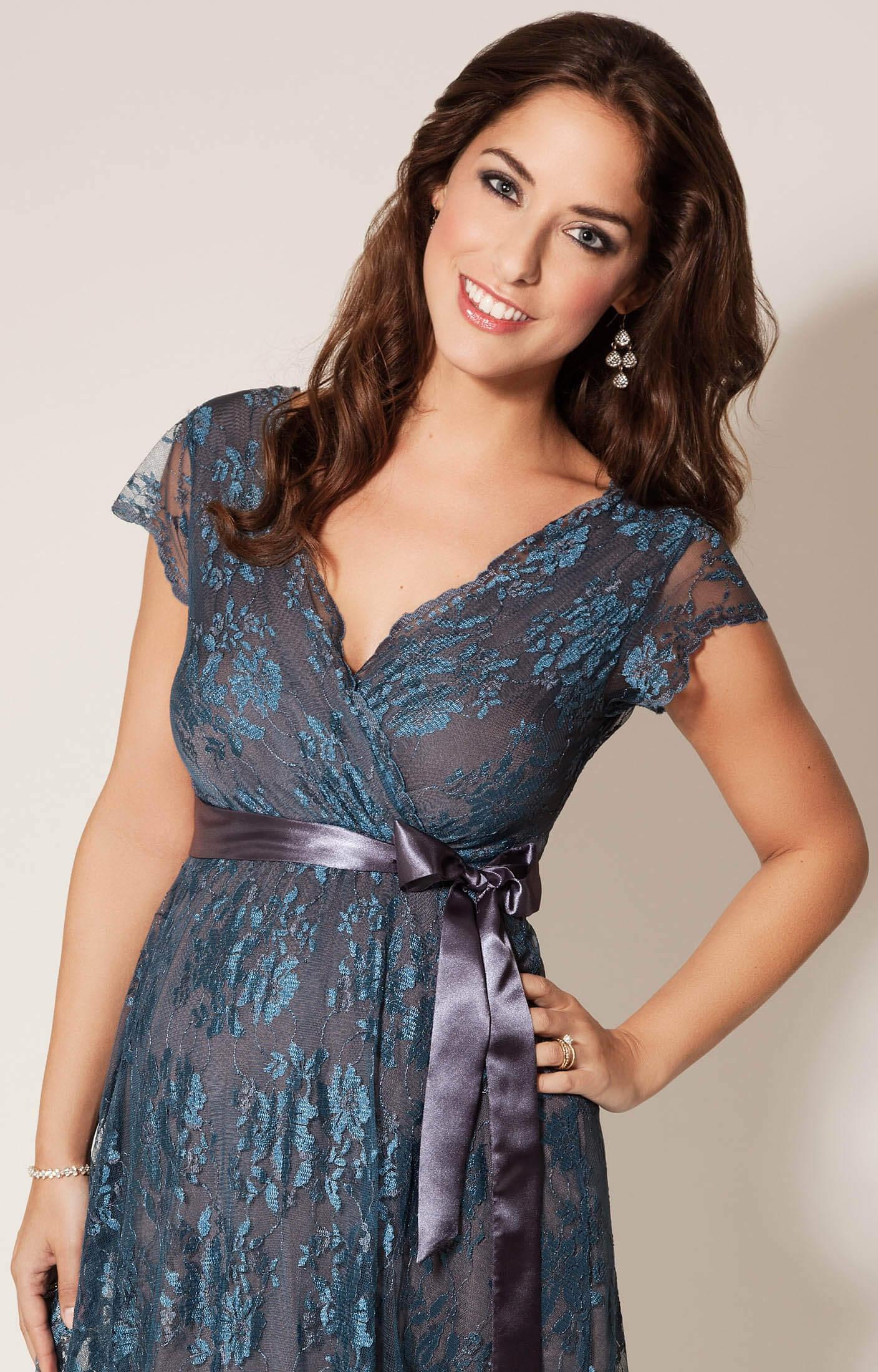 543a28f777ea Eden Maternity Gown Short (Caspian Blue) - Maternity Wedding Dresses ...