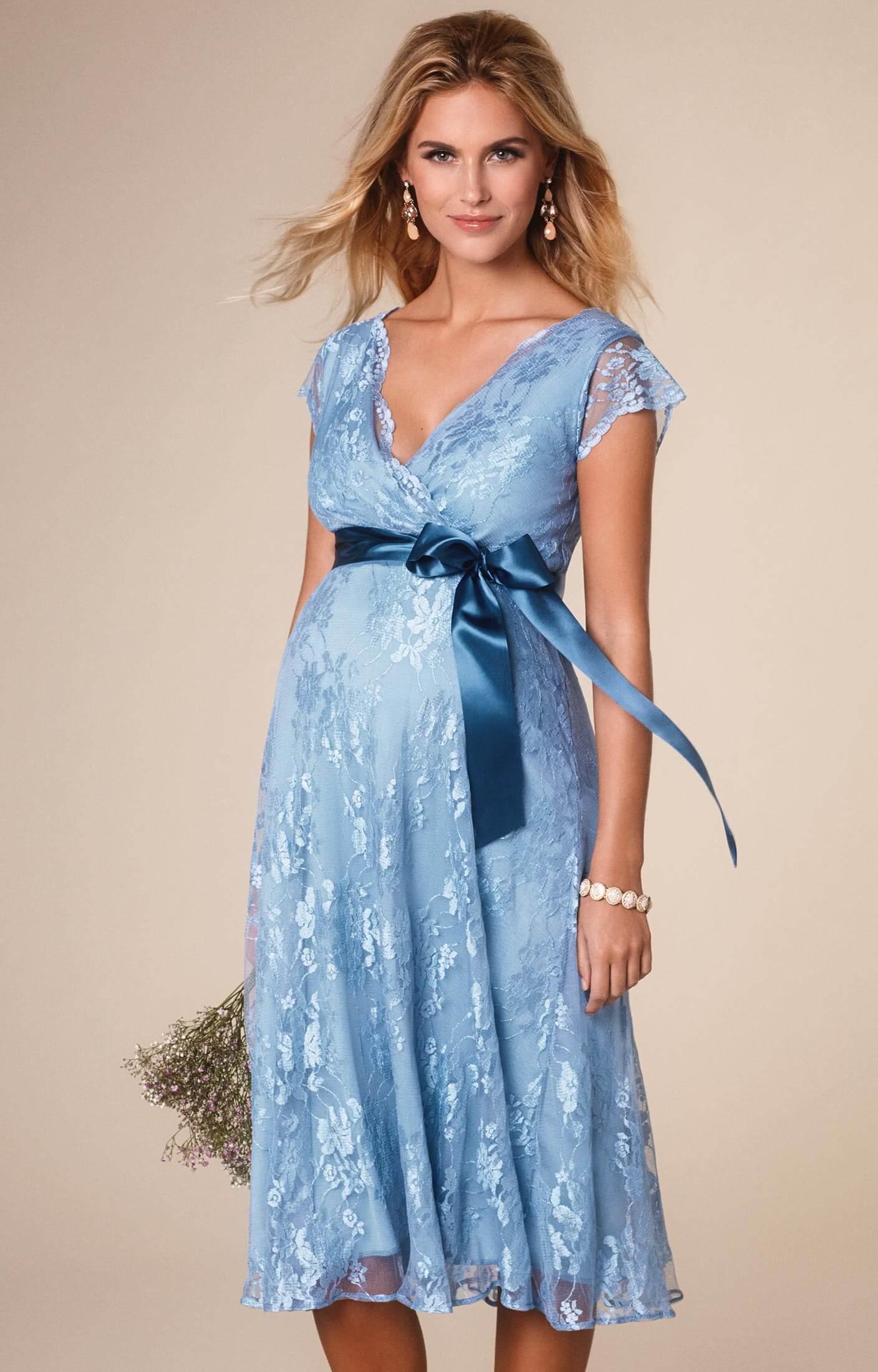 Eden Maternity Gown Short Dusk Blue - Maternity Wedding Dresses ...