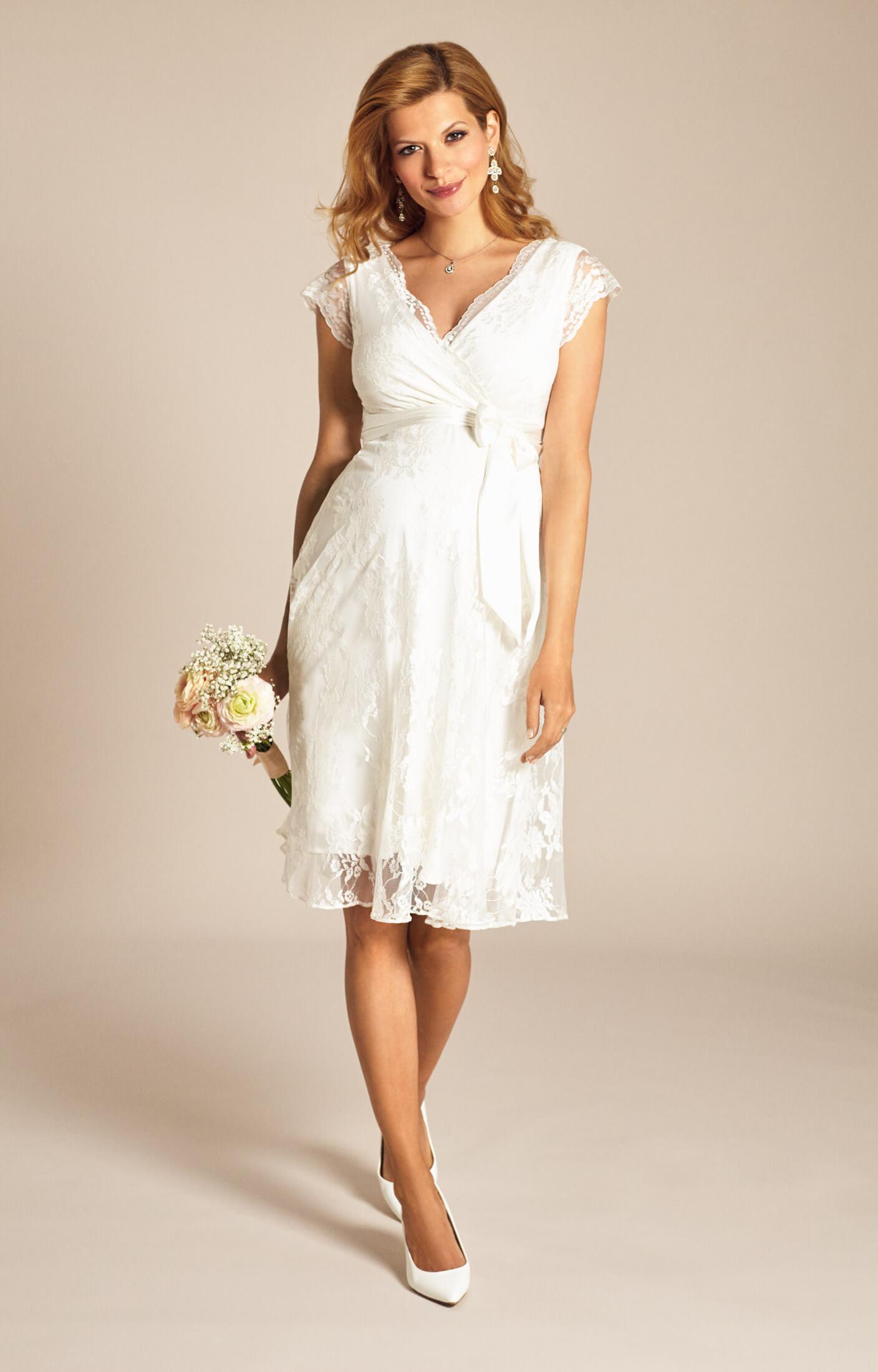 Eden Abendkleid kurz (Ivory Dream) - Umstandshochzeitskleider ...