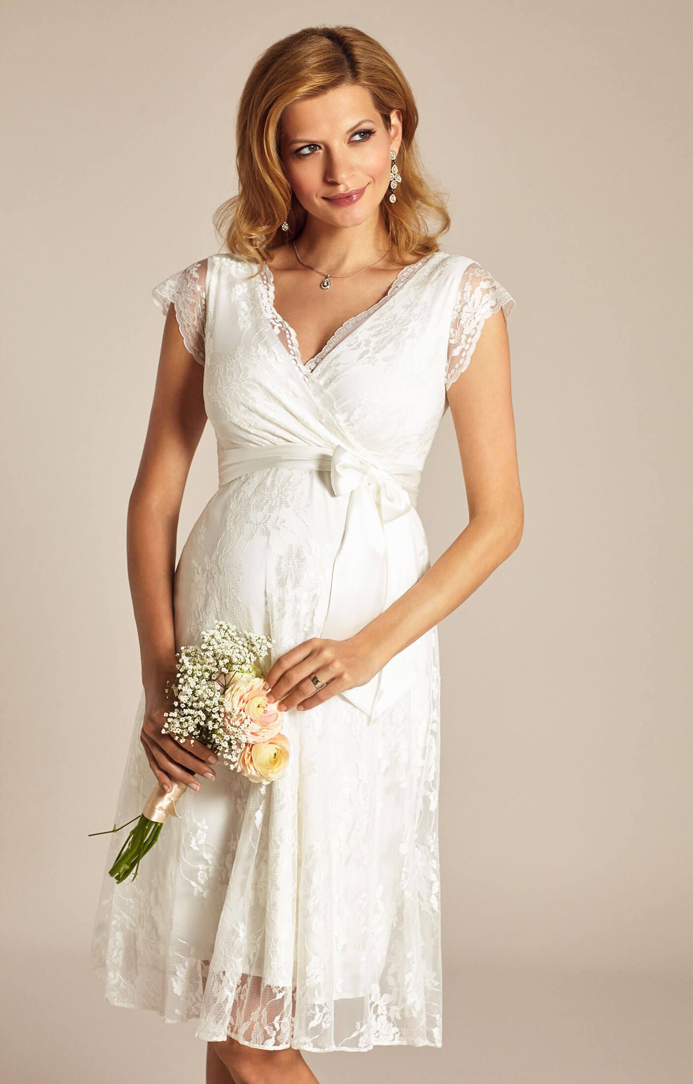Eden maternity wedding dress ivory dream maternity for Maternity dresses for wedding party