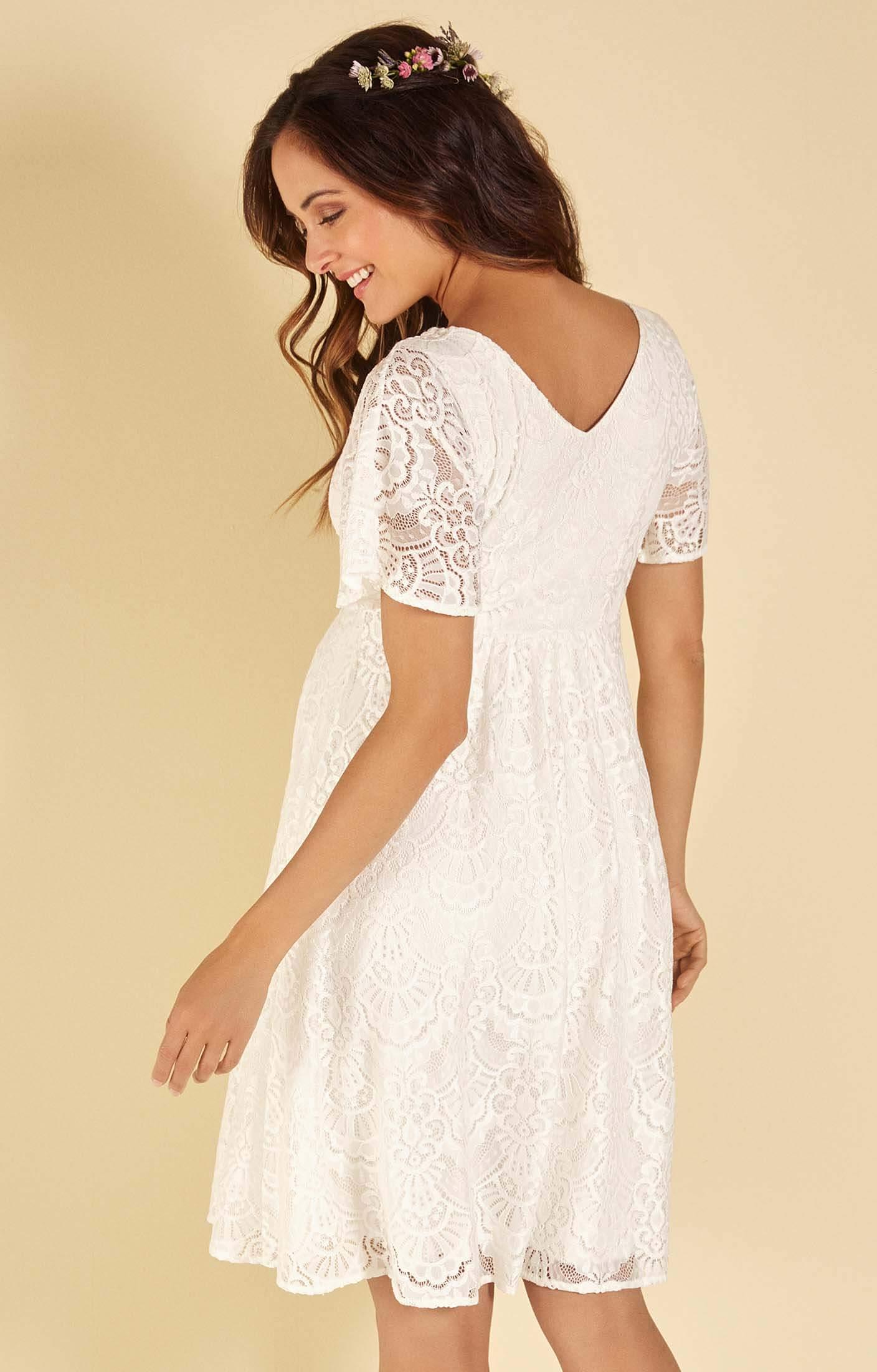 Edith Kimono Spitzen Kleid In Elfenbein Umstandshochzeitskleider Abendgarderobe Und Partykleidung By Tiffany Rose De