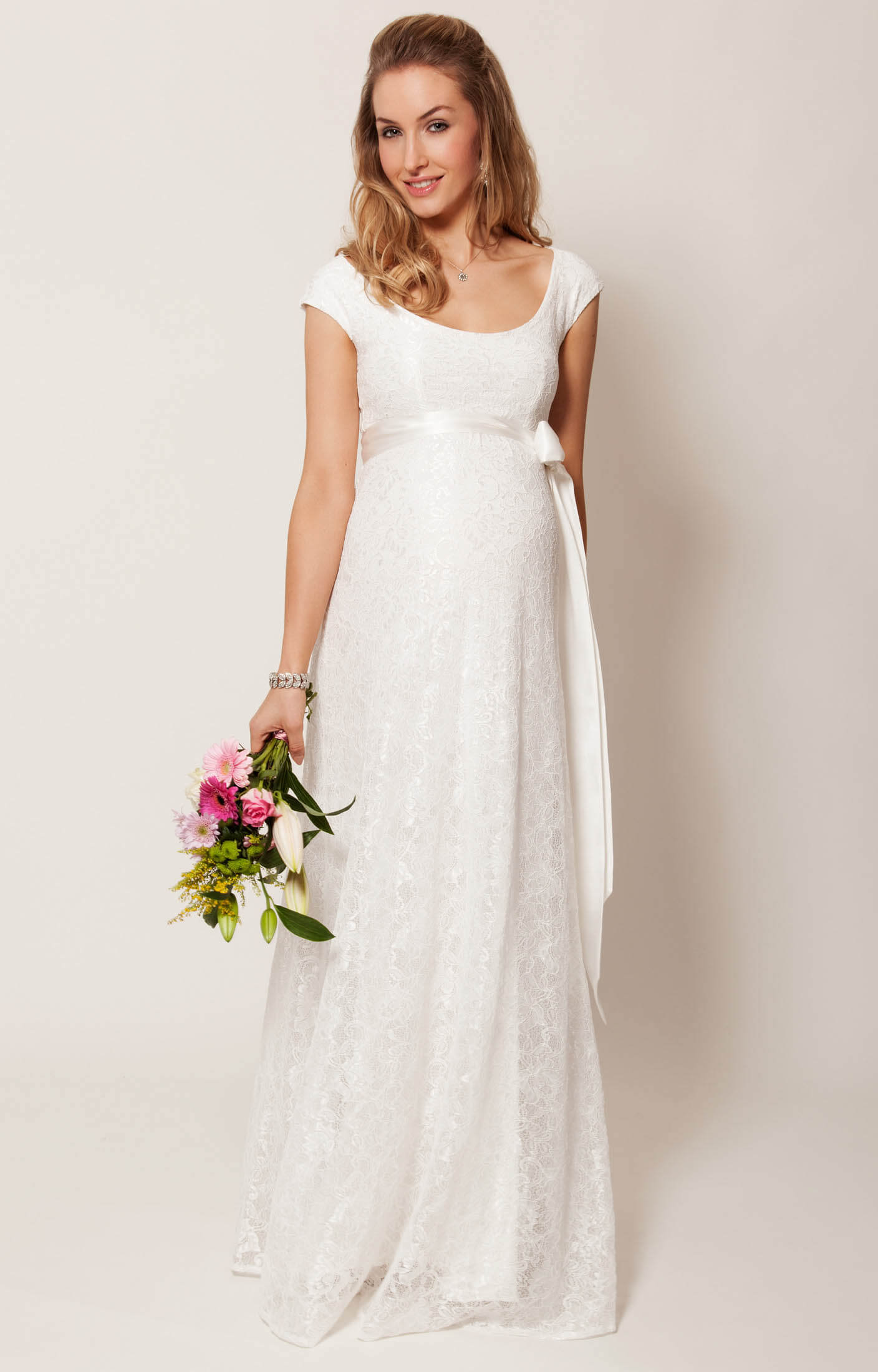 Eliza Maternity Wedding Gown Long (Ivory)