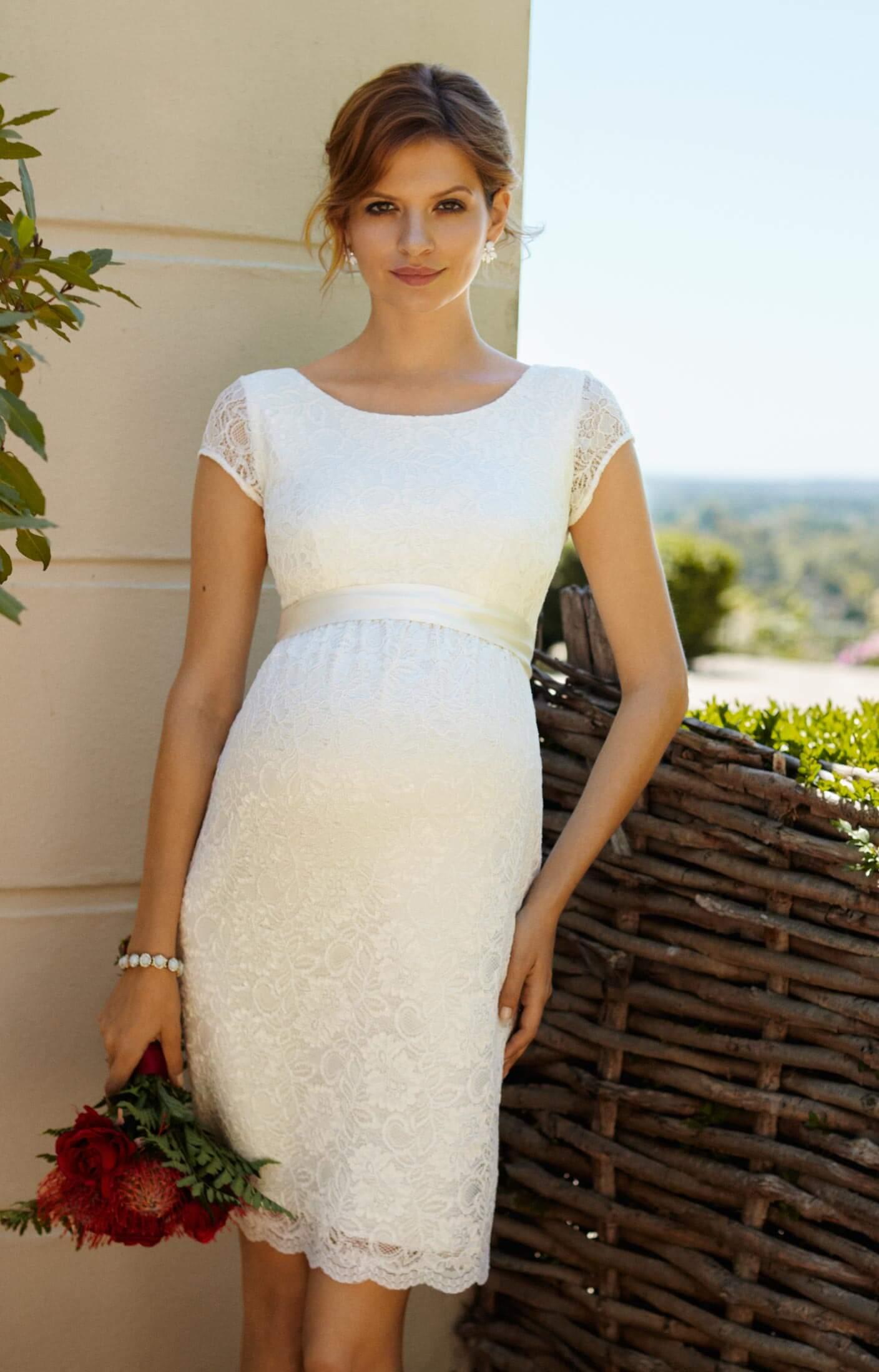 Etui Hochzeitskleid Emma Ivory Umstandshochzeitskleider