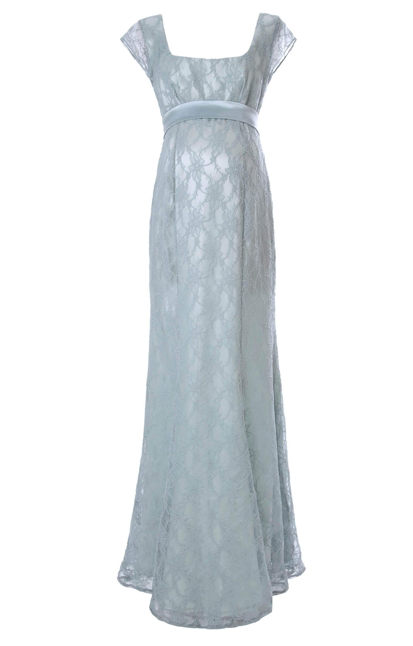 Eva Lace Maternity Gown (Glacier) - Maternity Wedding Dresses ...