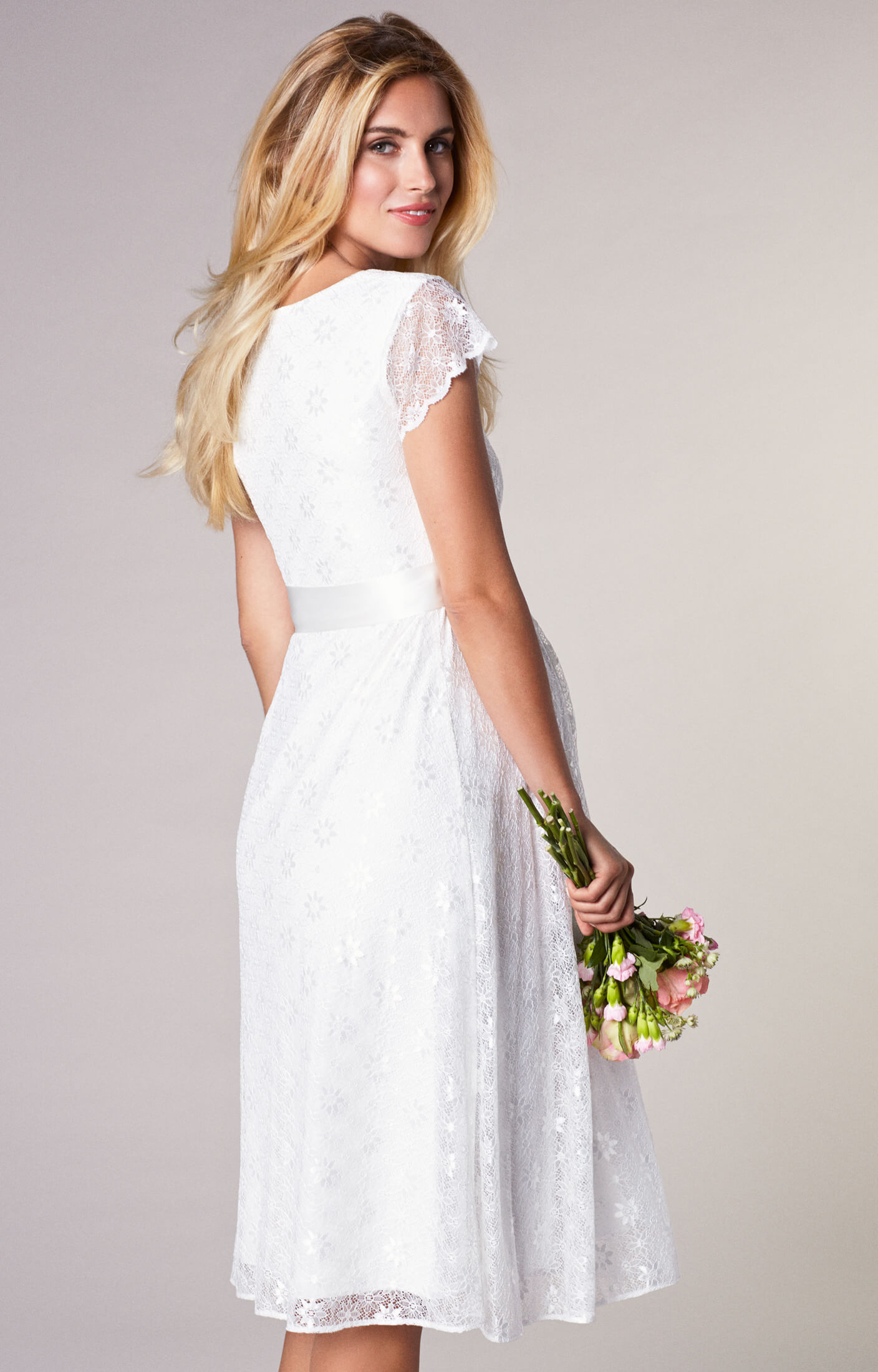 4ddb57793b2 Florence Maternity Wedding Dress Short Ivory - Maternity Wedding Dresses