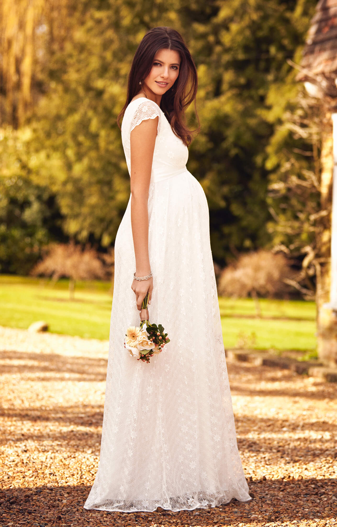 35de3f8a78b Florence Maternity Wedding Gown Long Ivory - Maternity Wedding Dresses
