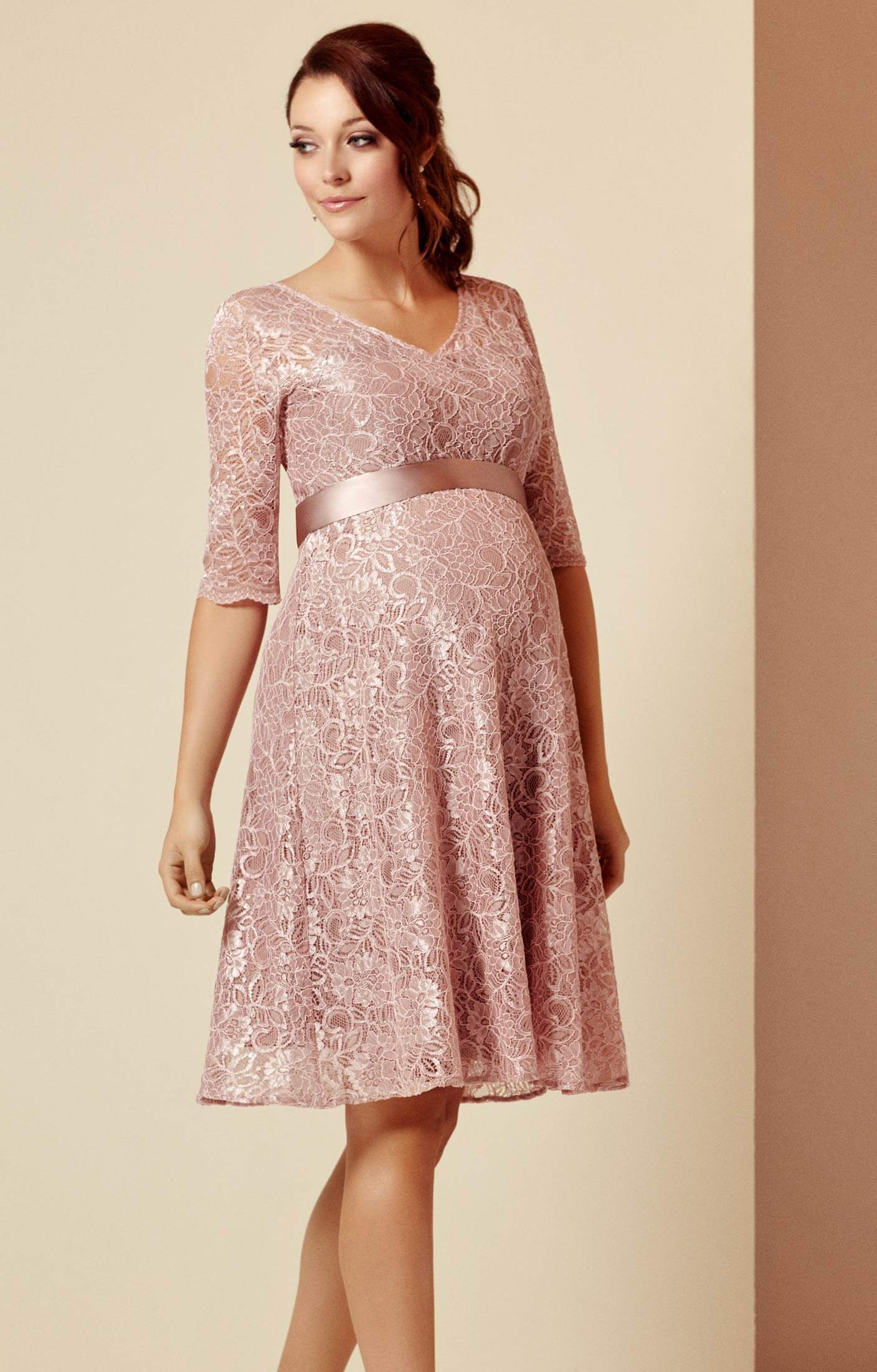 9fb58341eb437 Flossie Maternity Dress Short Orchid Blush - Maternity Wedding Dresses,  Evening Wear and Party Clothes by Tiffany Rose UK