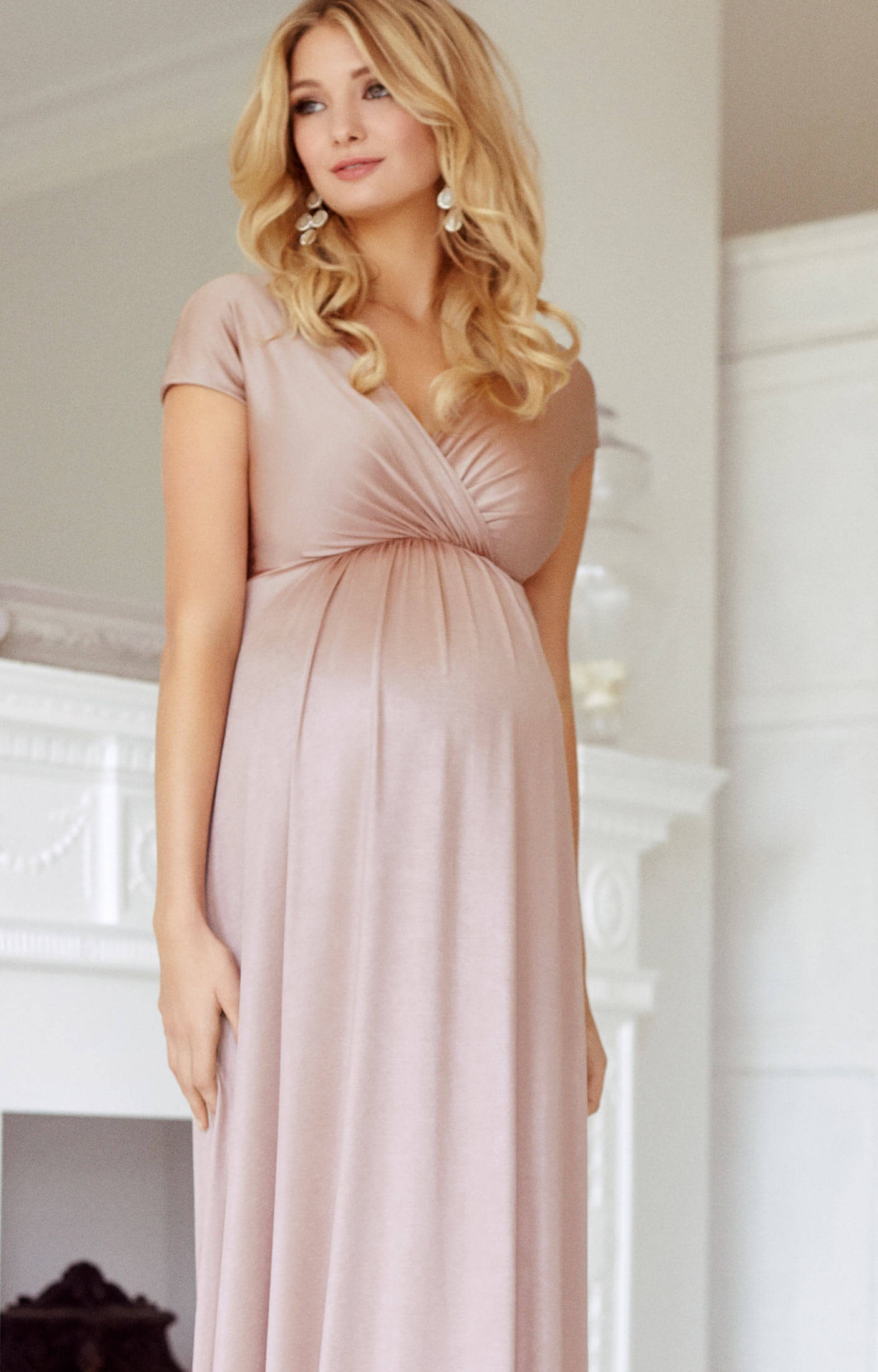 9e79ea318ad Francesca Maternity Maxi Dress Blush - Maternity Wedding Dresses ...
