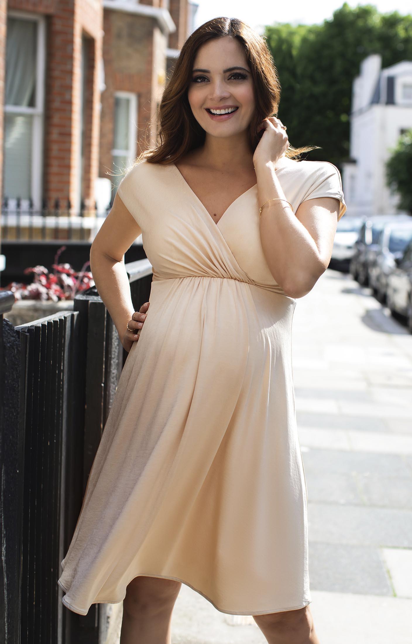 Francesca Umstandskleid Champagner Umstandshochzeitskleider Abendgarderobe Und Partykleidung By Tiffany Rose De