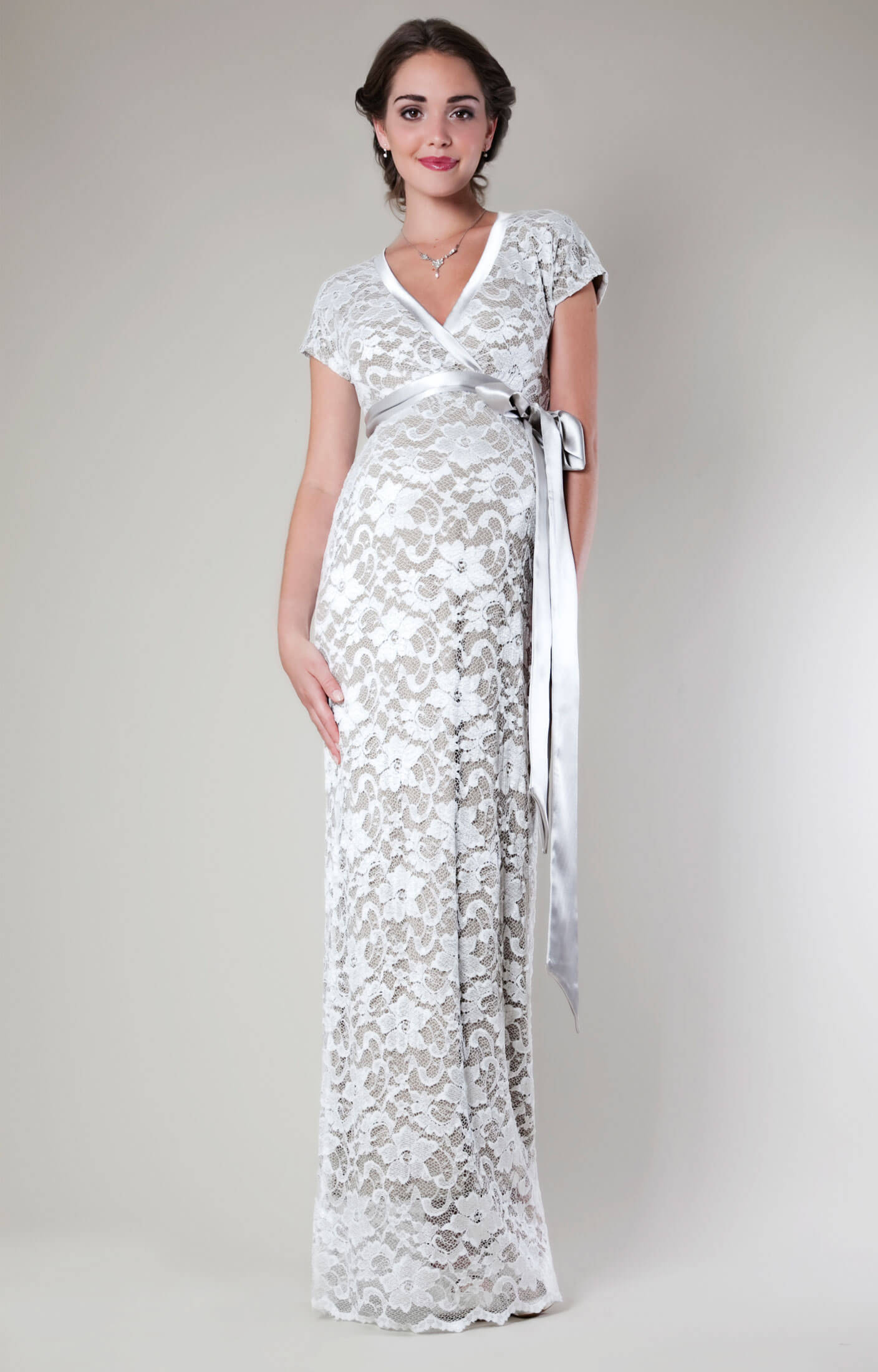 grace lace maternity dress long ivory maternity wedding