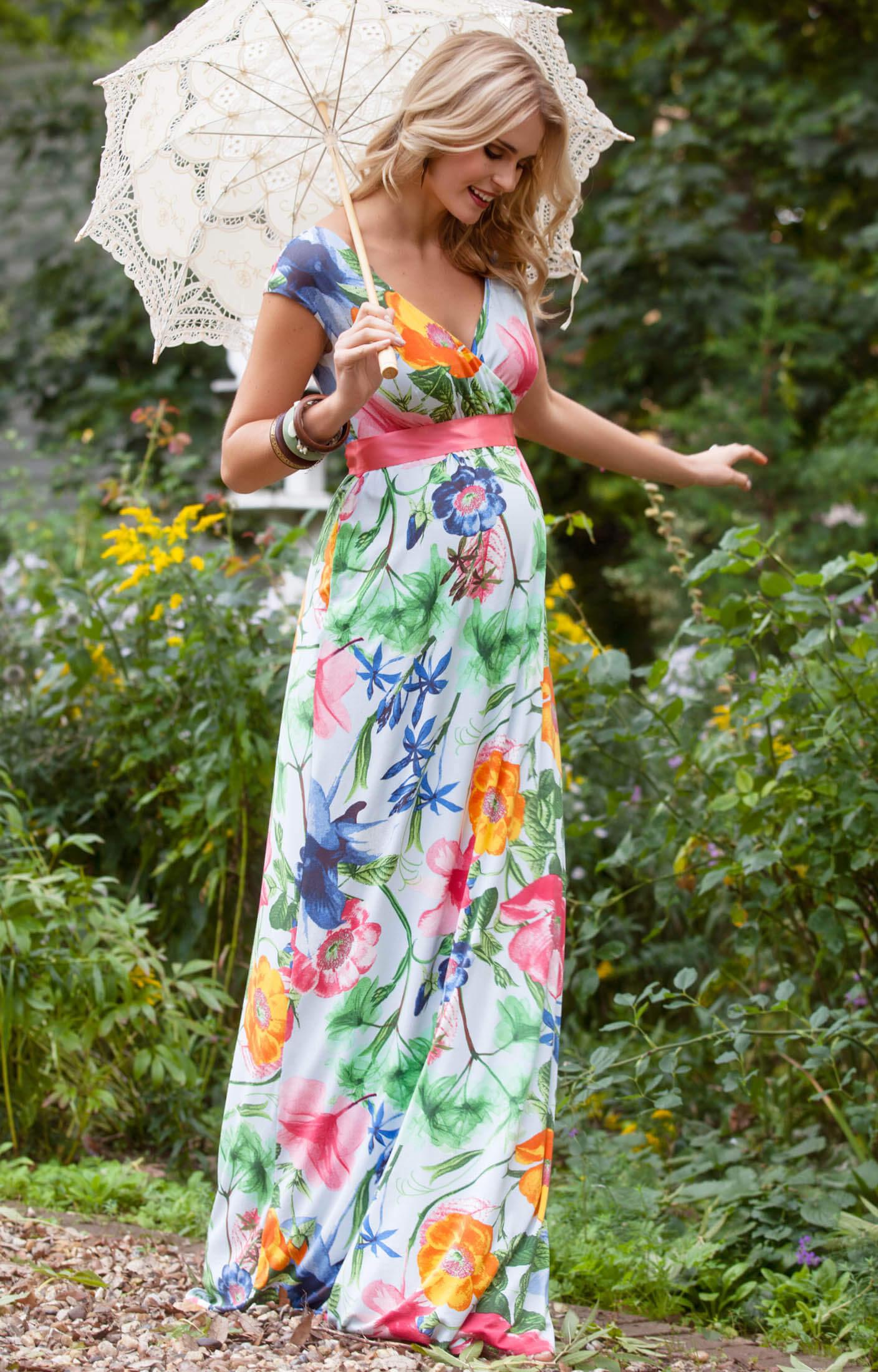 Alana Maxi Maternity Dress Hawaiian Breeze - Maternity Wedding ...