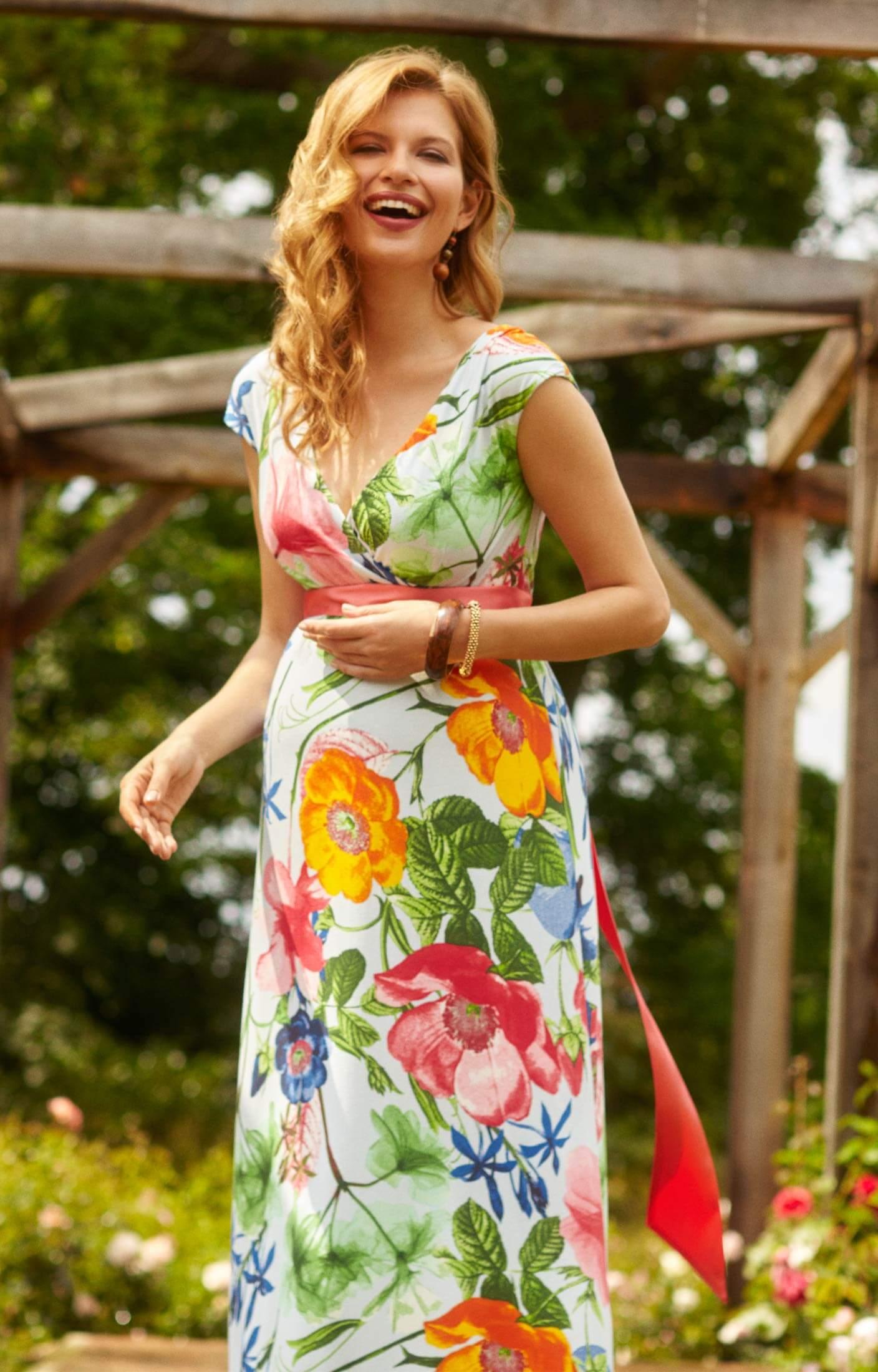 Alana Maxi Maternity Dress Hawaiian Breeze Maternity