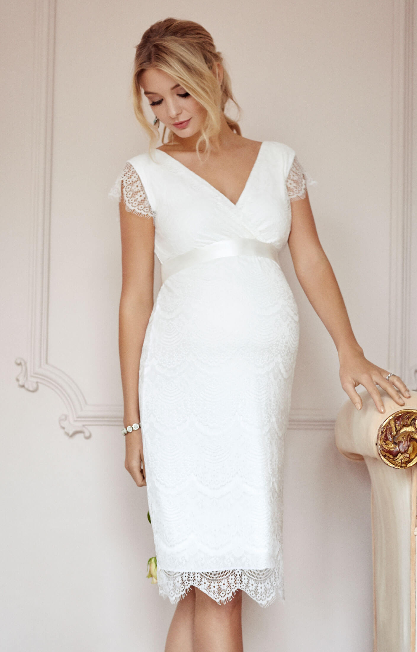 Maternity wedding dresses maternity wedding gowns and maternity imogen maternity wedding shift dress ivory ombrellifo Images