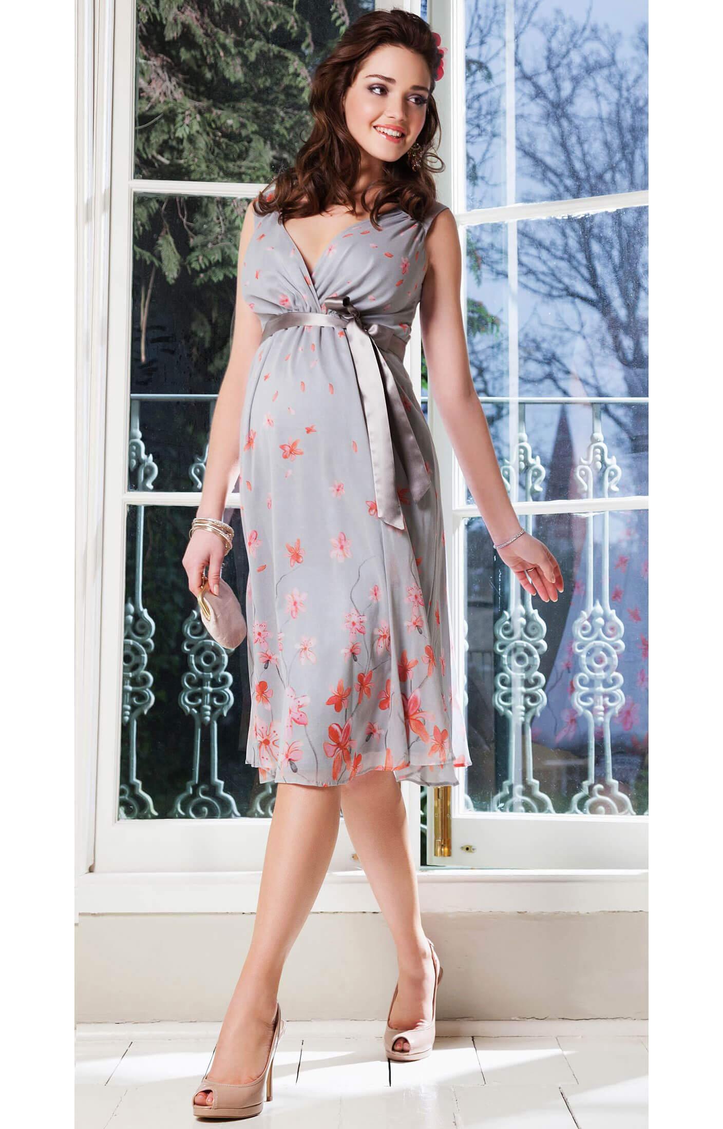 Jasmine silk maternity gown short peach blossom maternity jasmine silk maternity gown short peach blossom by tiffany rose ombrellifo Gallery