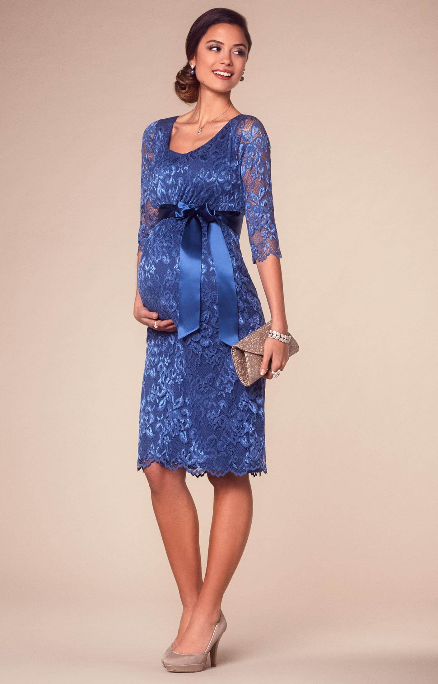 If you prefer short & sassy maternity evening wear, then check out the Front Tie maternity dresses formal and more casual by Maternal America, Tees by Tina fitted dresses with .
