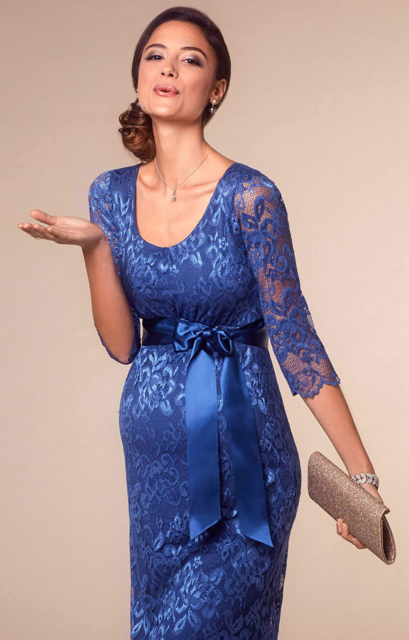 Katie Maternity Dress Short Windsor Blue - Brudklänningar ... a82786a142199