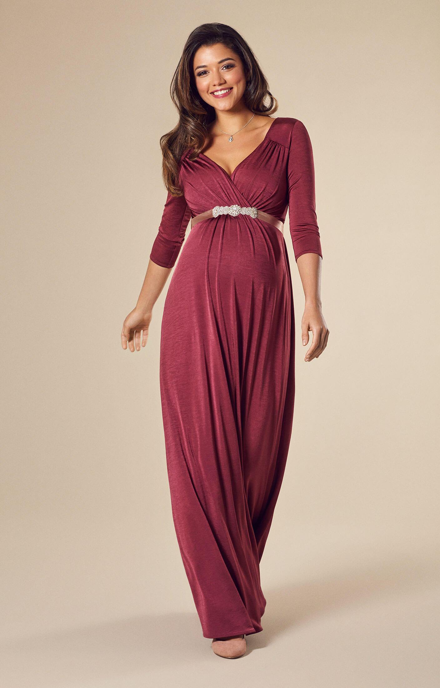 robe de grossesse lexi longue rose pic robes de maternit de mari e tenues de maternit de. Black Bedroom Furniture Sets. Home Design Ideas