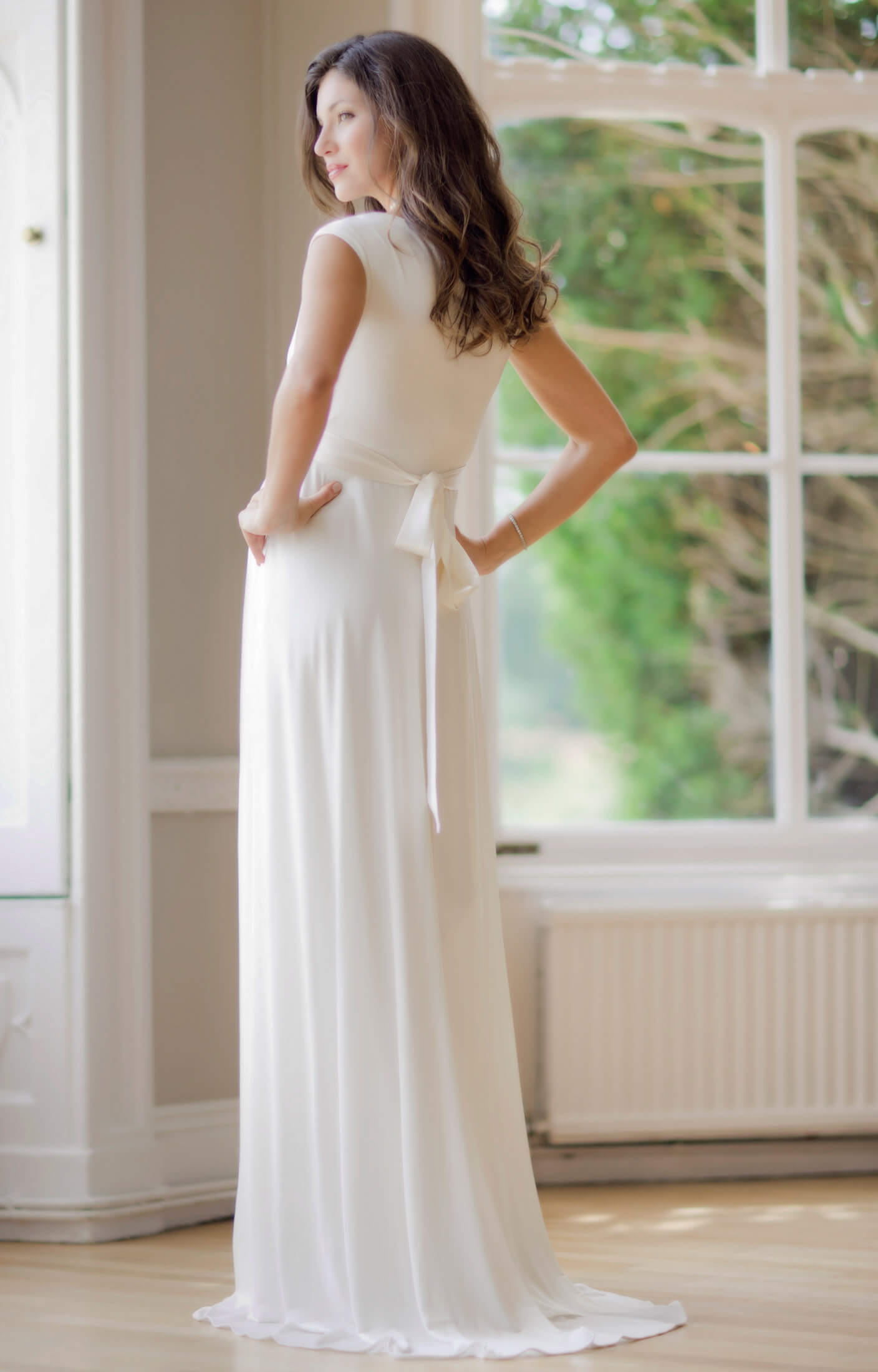 Liberty Maternity Wedding Gown Ivory Maternity Wedding