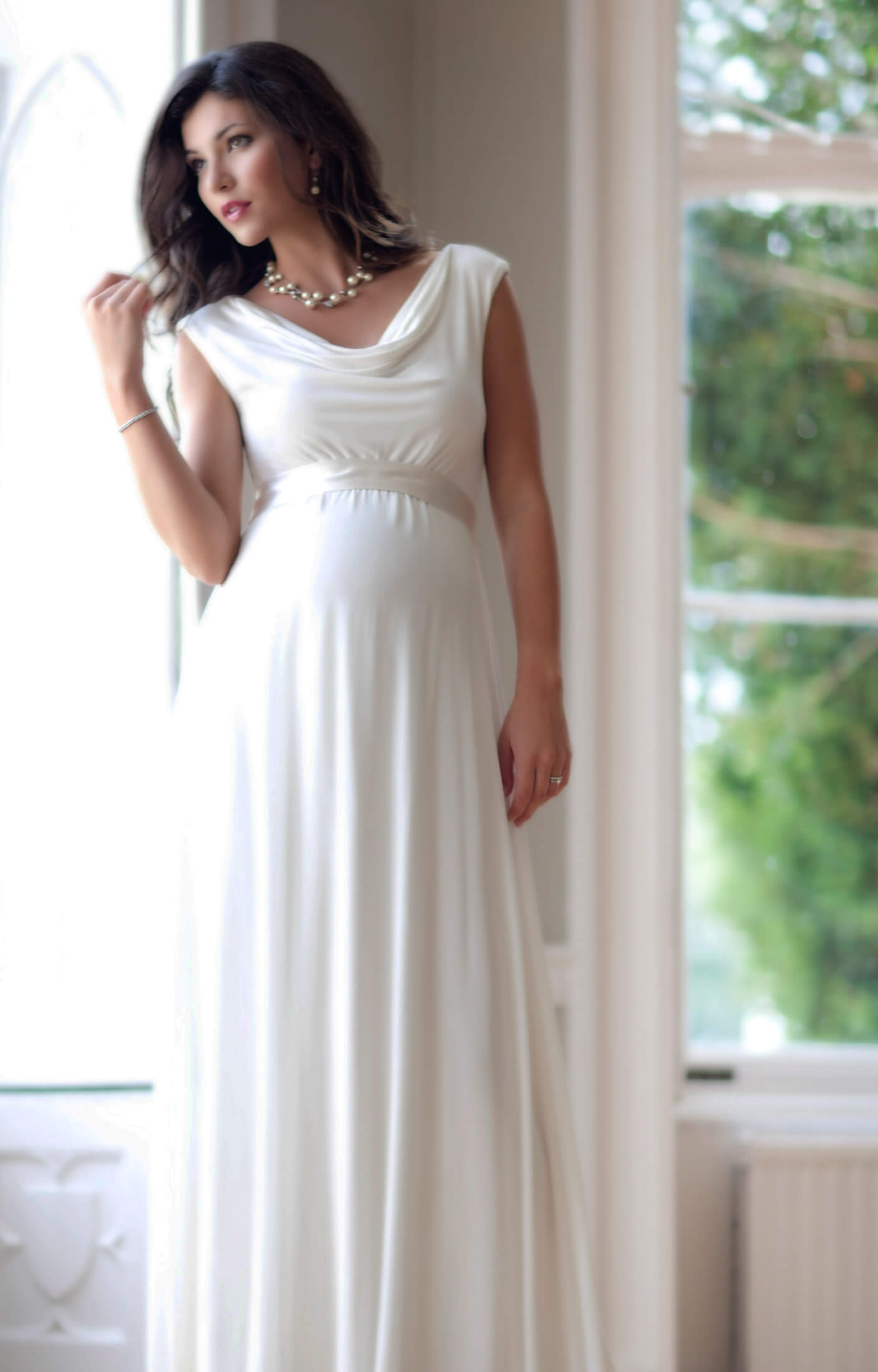 Liberty Maternity Wedding Gown Ivory Maternity Wedding