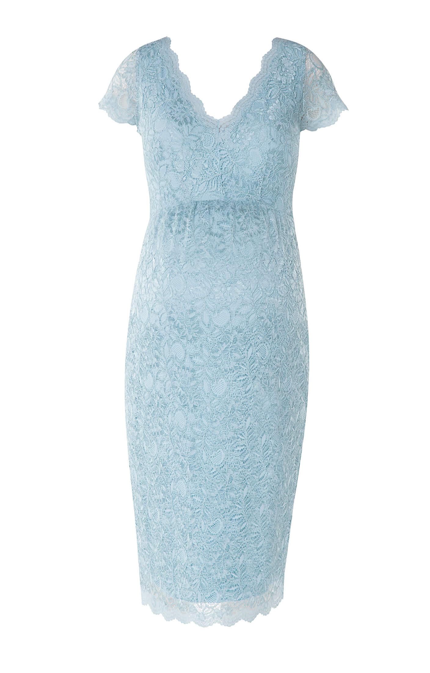 Laura maternity lace dress eau de nil maternity wedding for Maternity lace wedding dresses