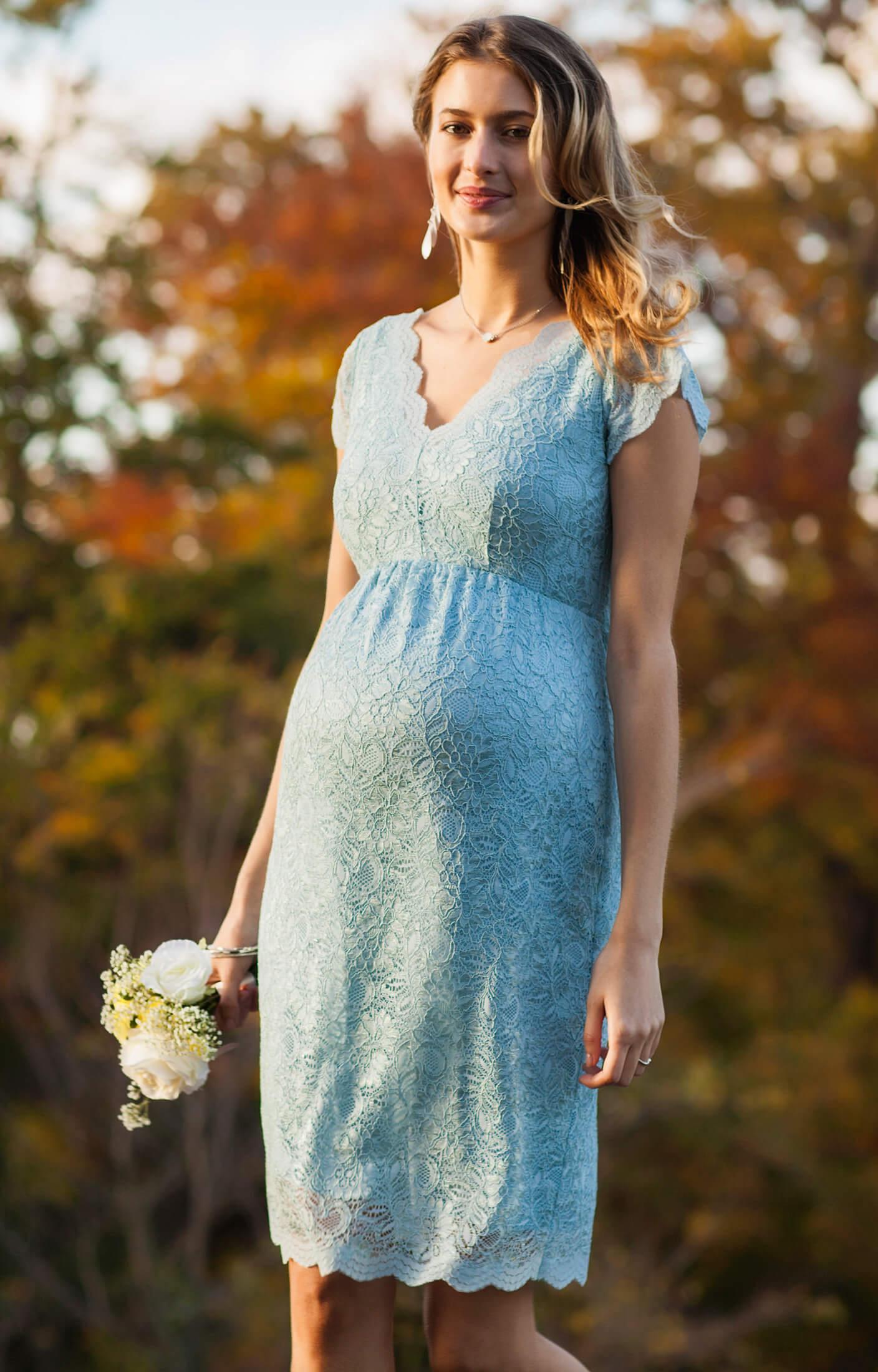 Laura Maternity Lace Dress Eau De Nil Maternity Wedding