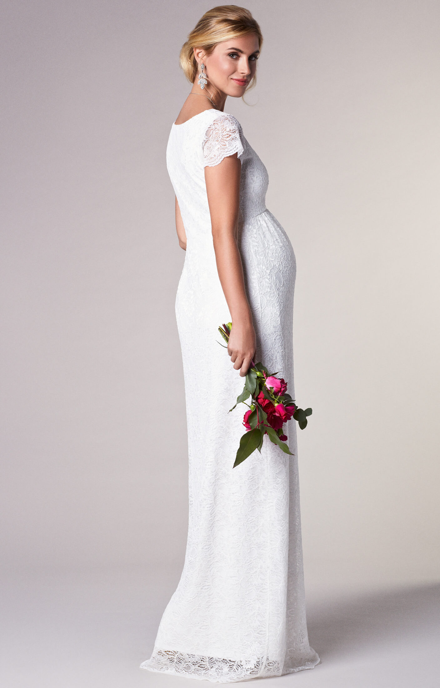 Laura Maternity Wedding Lace Gown Long Ivory - Maternity Wedding ...