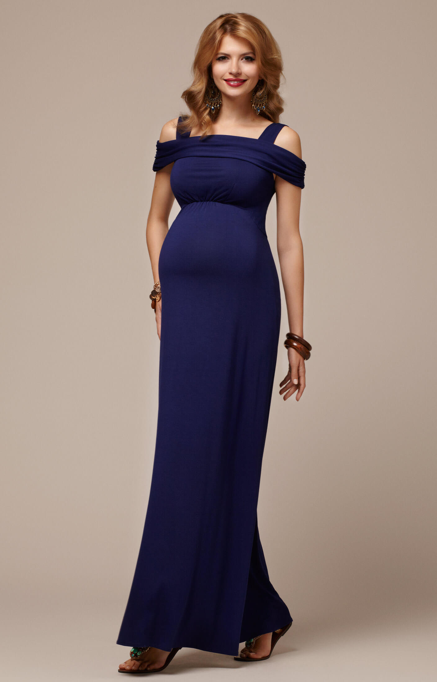 Lola Maternity Maxi Dress Mirage Blue Maternity Wedding