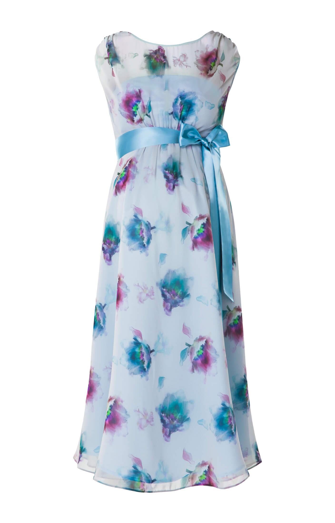 Maya Maternity Gown Short Dusky Floral - Maternity Wedding Dresses ...