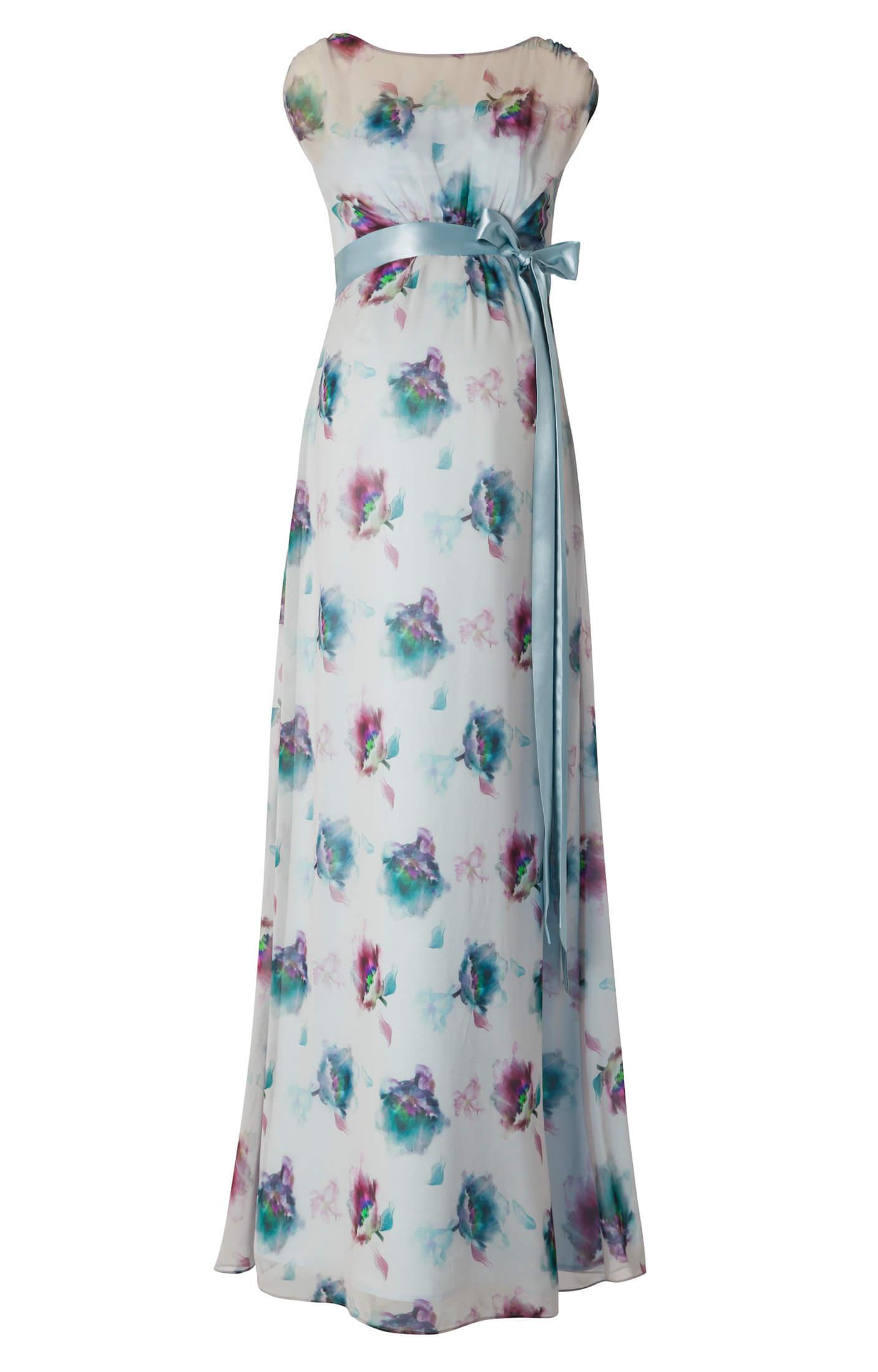 Maya Maternity Gown Long Dusky Floral - Maternity Wedding Dresses ...