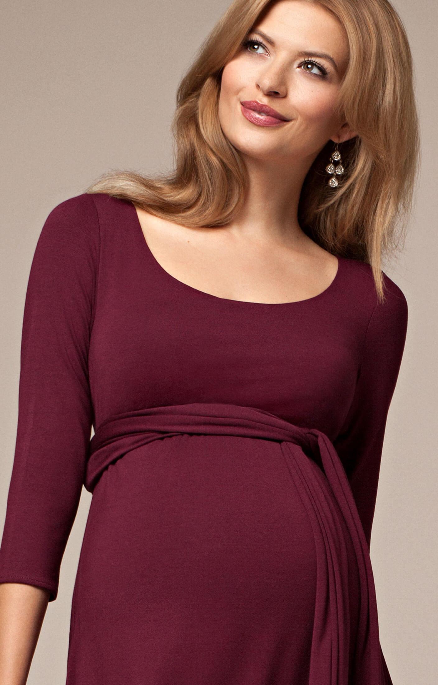 Naomi Maternity Nursing Dress Mulberry - Maternity Wedding