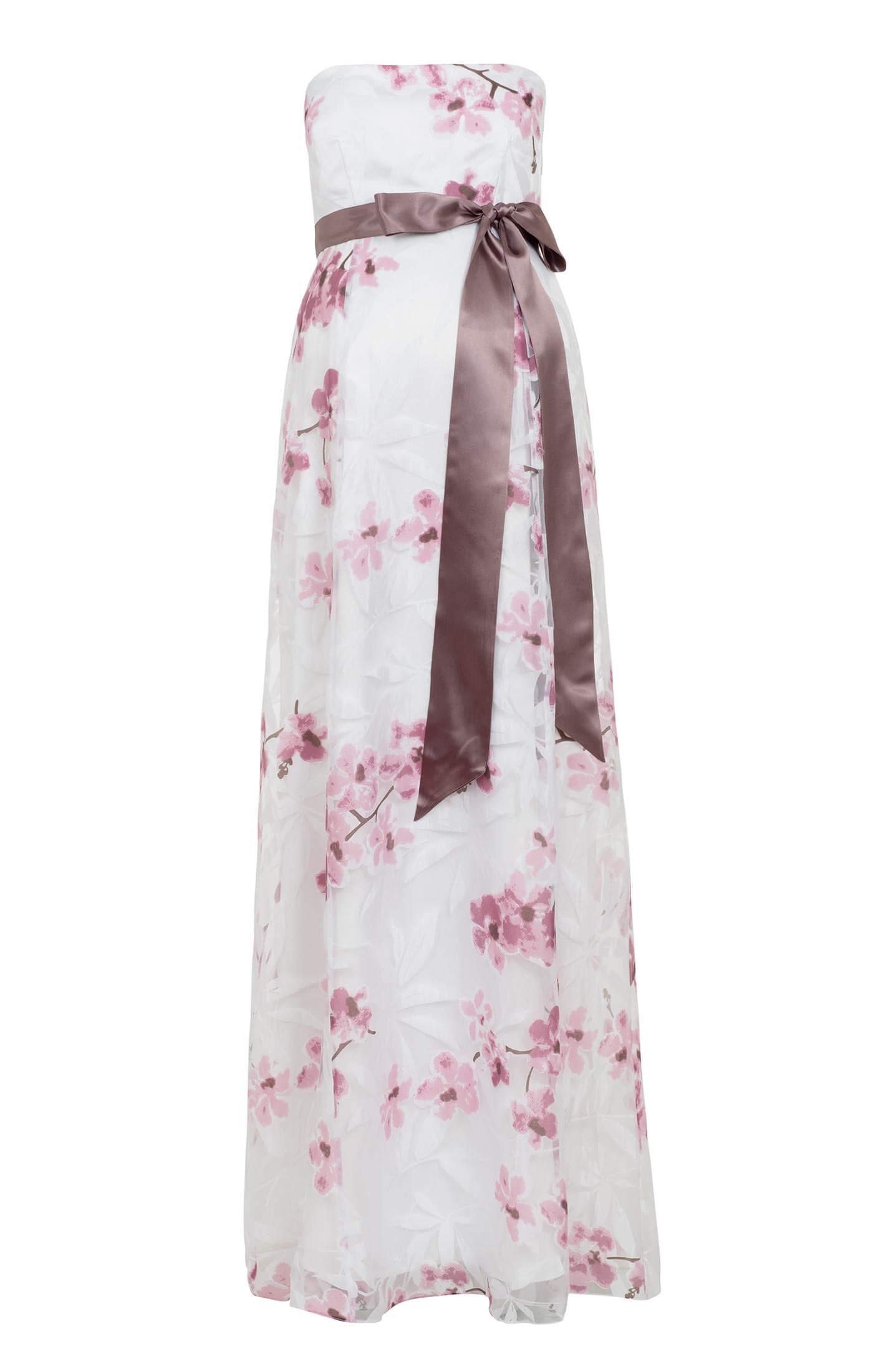 Umstandskleid Ocean Lang mit Kirschblüten Print by Tiffany Rose