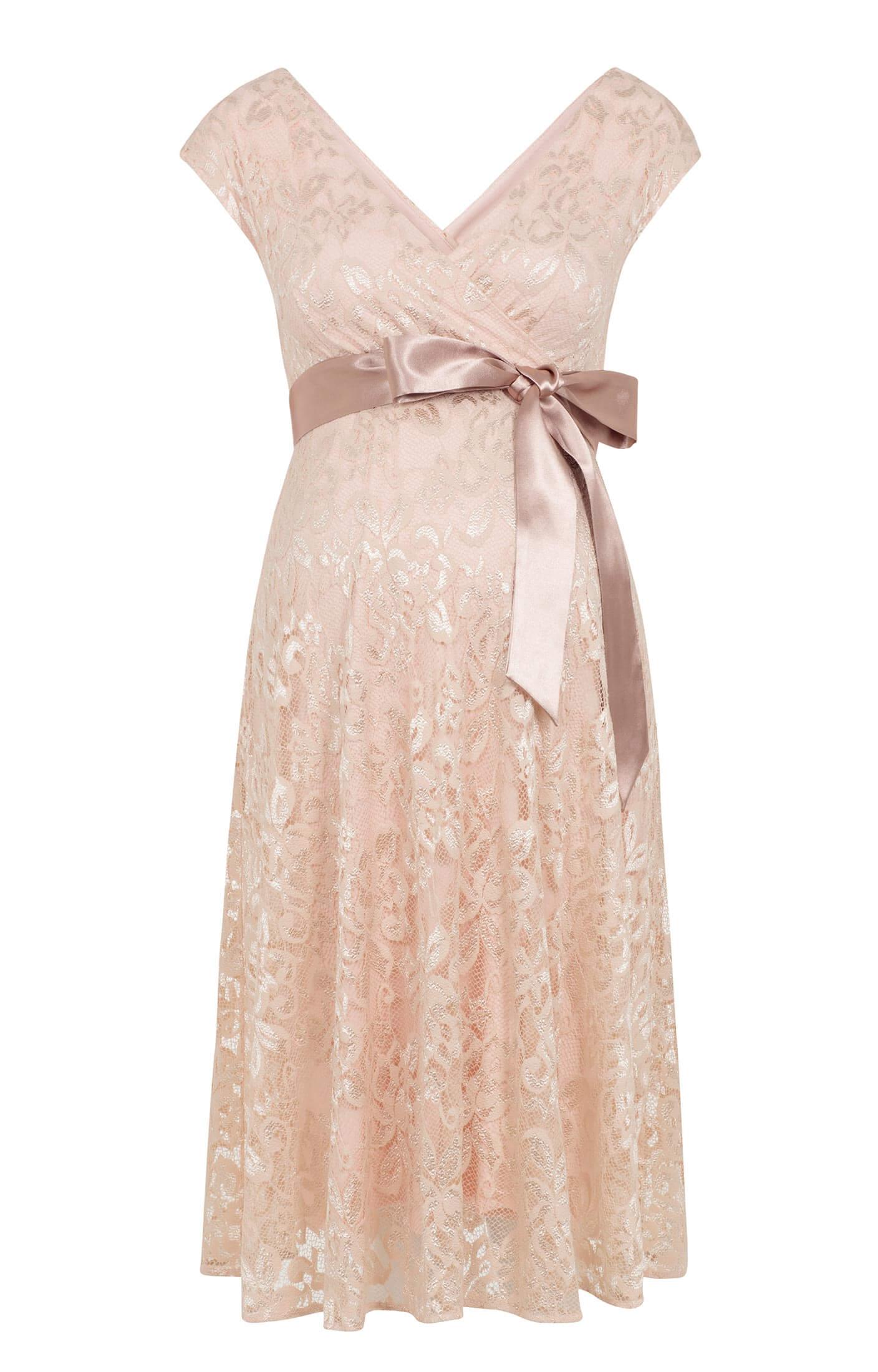 Orla Maternity Lace Dress Pearl Blush Maternity Wedding