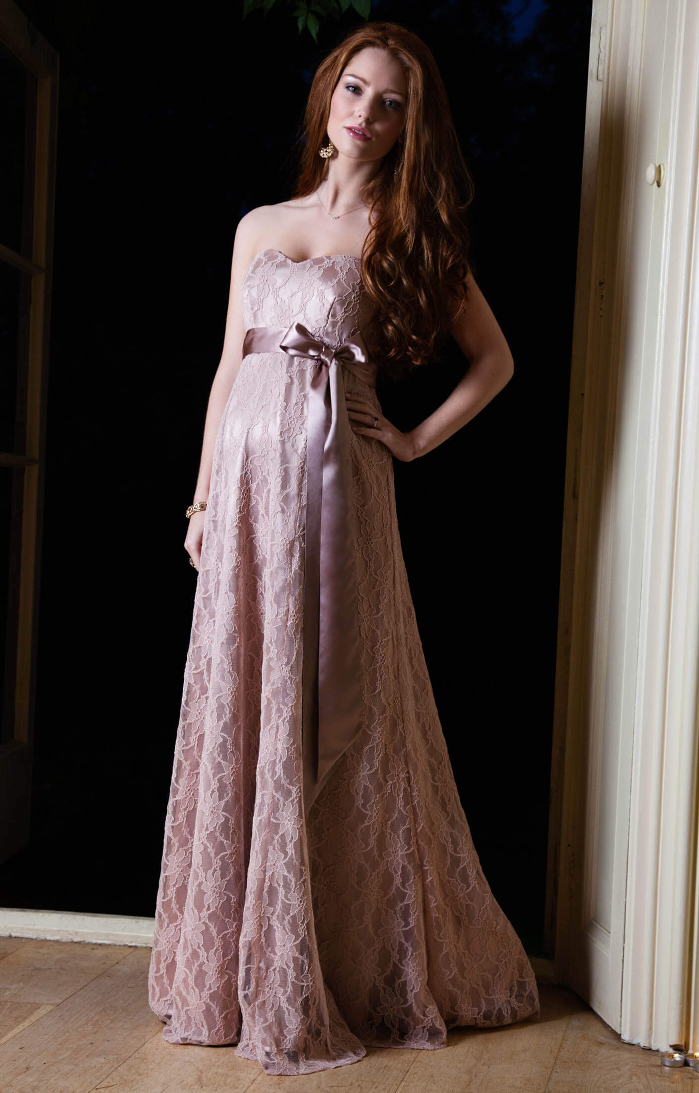 Olivia Maternity Gown Antique Rose Maternity Wedding