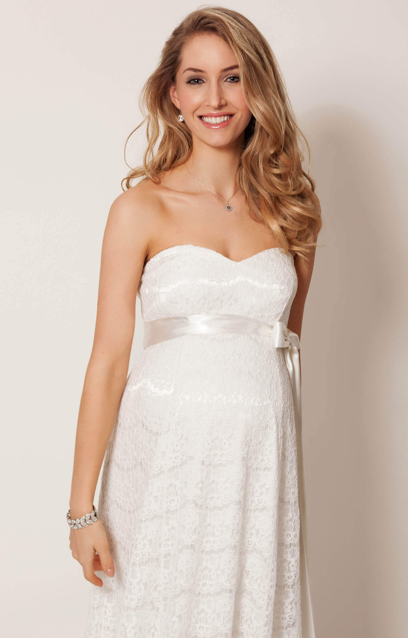 Olivia Maternity Wedding Gown (Ivory) - Maternity Wedding Dresses ...