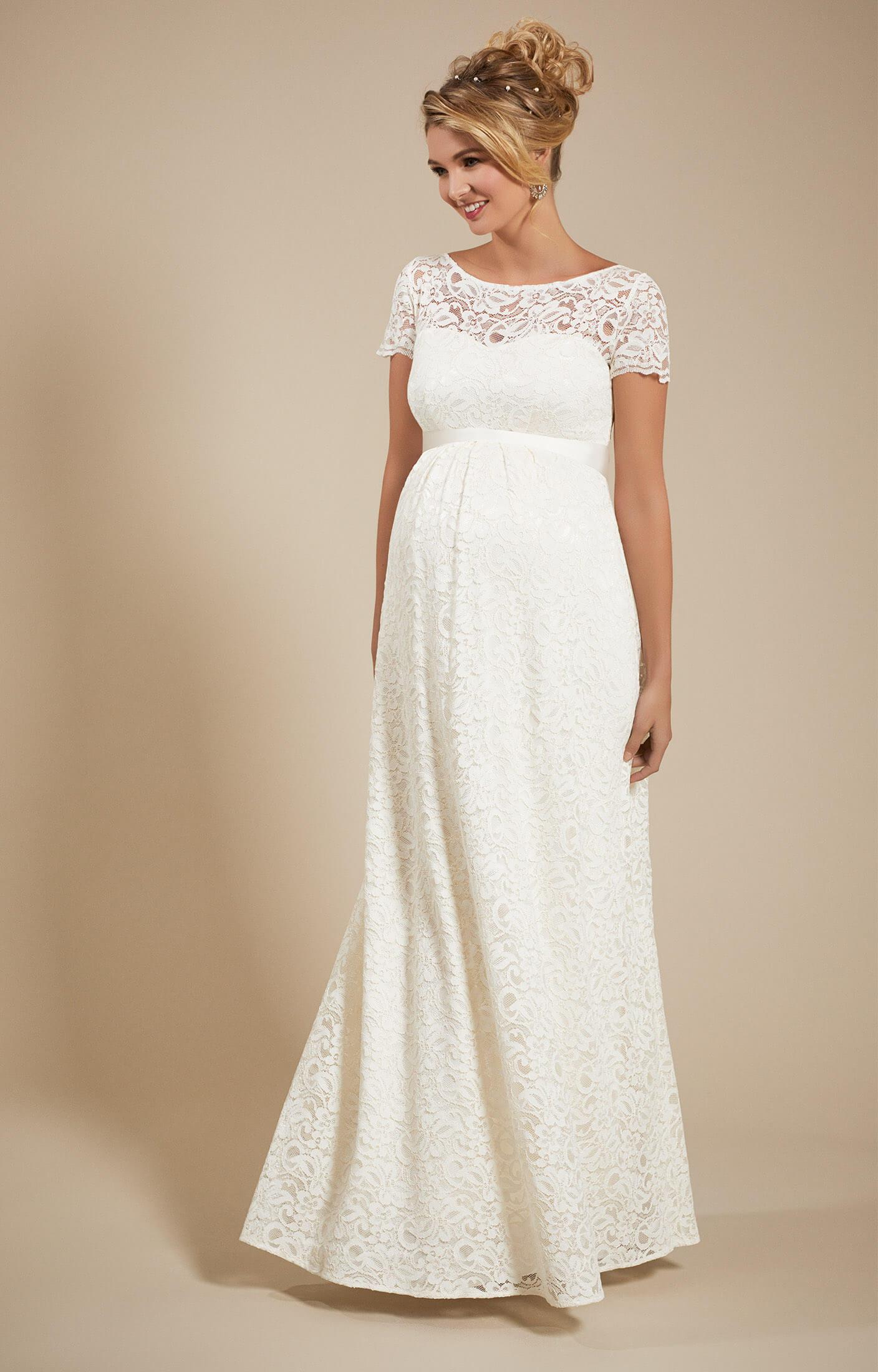 Penelope Umstands Hochzeitskleid lang in Elfenbein