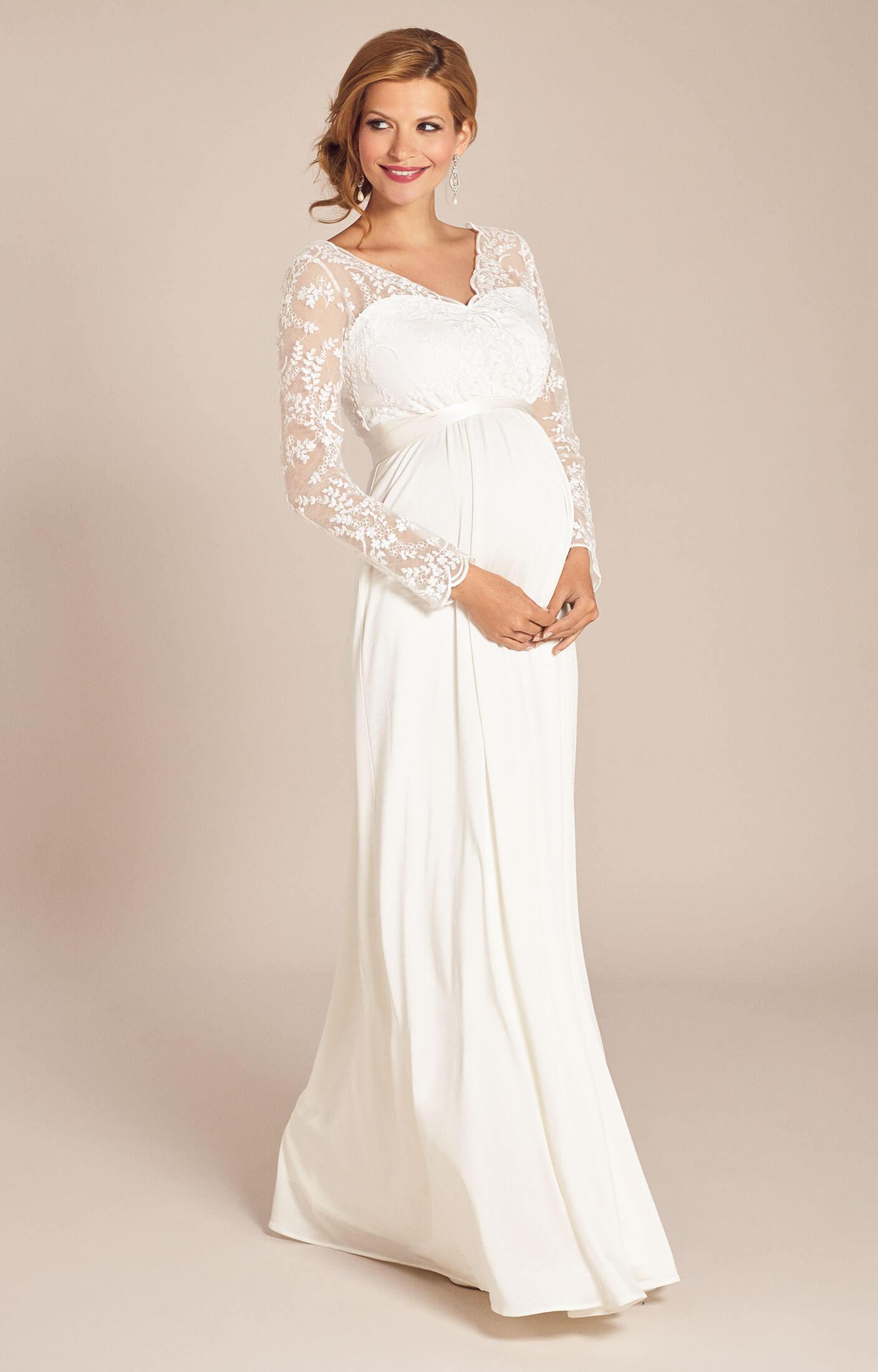 Rosalina maternity wedding gown ivory maternity wedding for Maternity dresses for wedding party