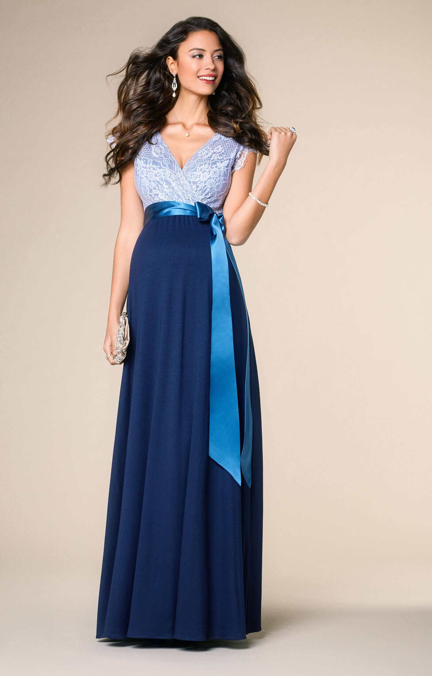 Rosa Maternity Gown Long Infinity Blue - Maternity Wedding ...