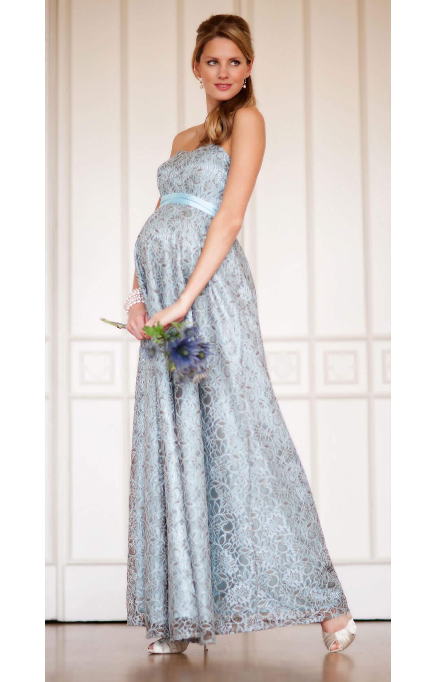 Savona Maternity Gown (Blue) - Maternity Wedding Dresses, Evening ...