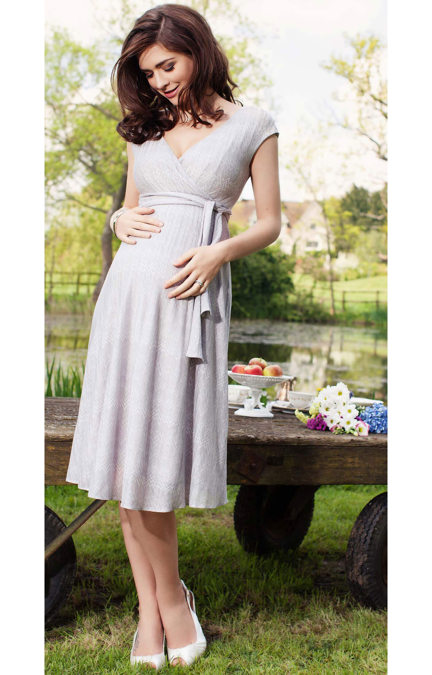 8508e2c8b26e1 Summer Breeze Maternity Dress (Silver) - Maternity Wedding Dresses ...