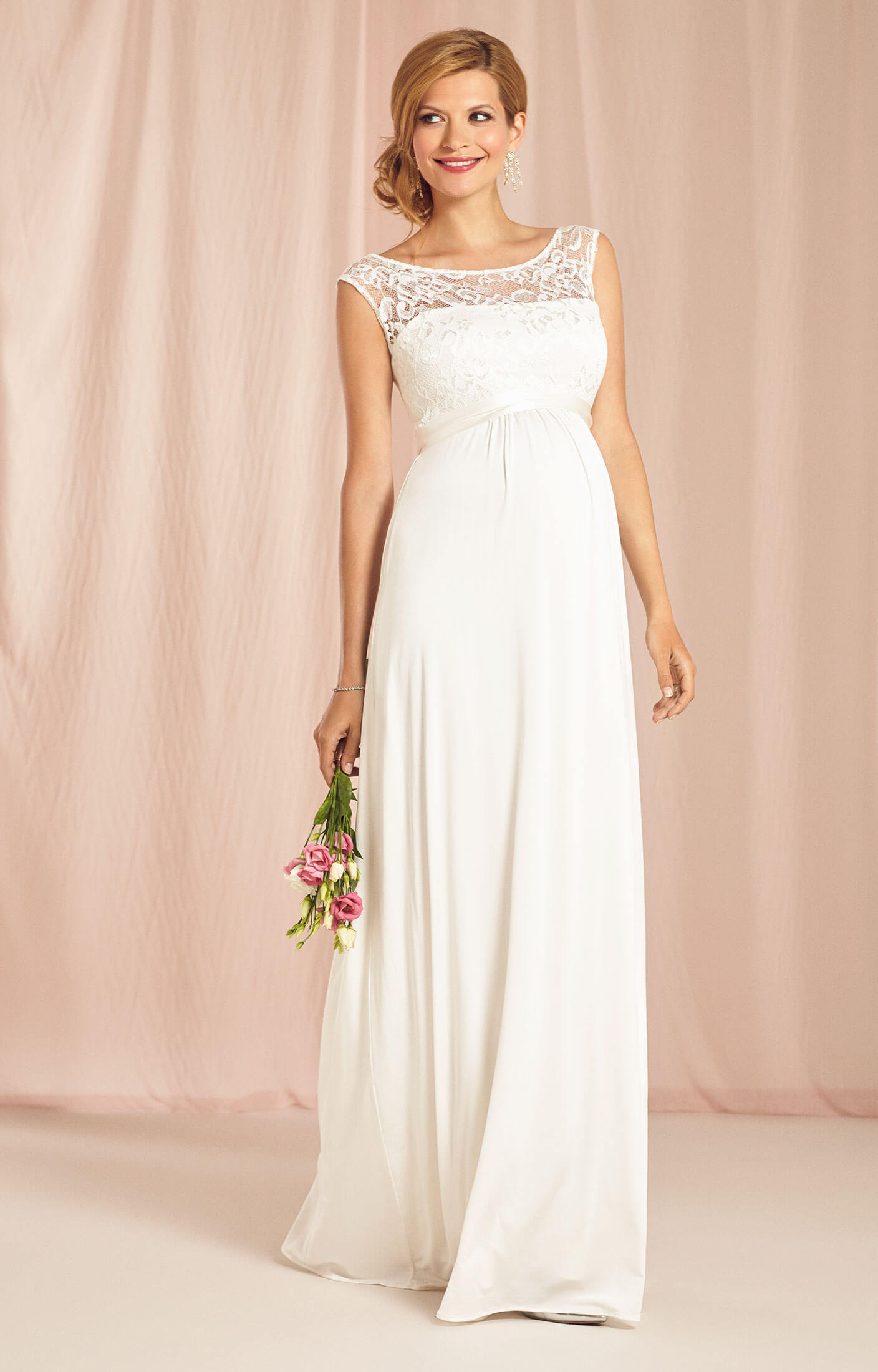 Valencia maternity wedding gown ivory maternity wedding for Maternity dresses for wedding party